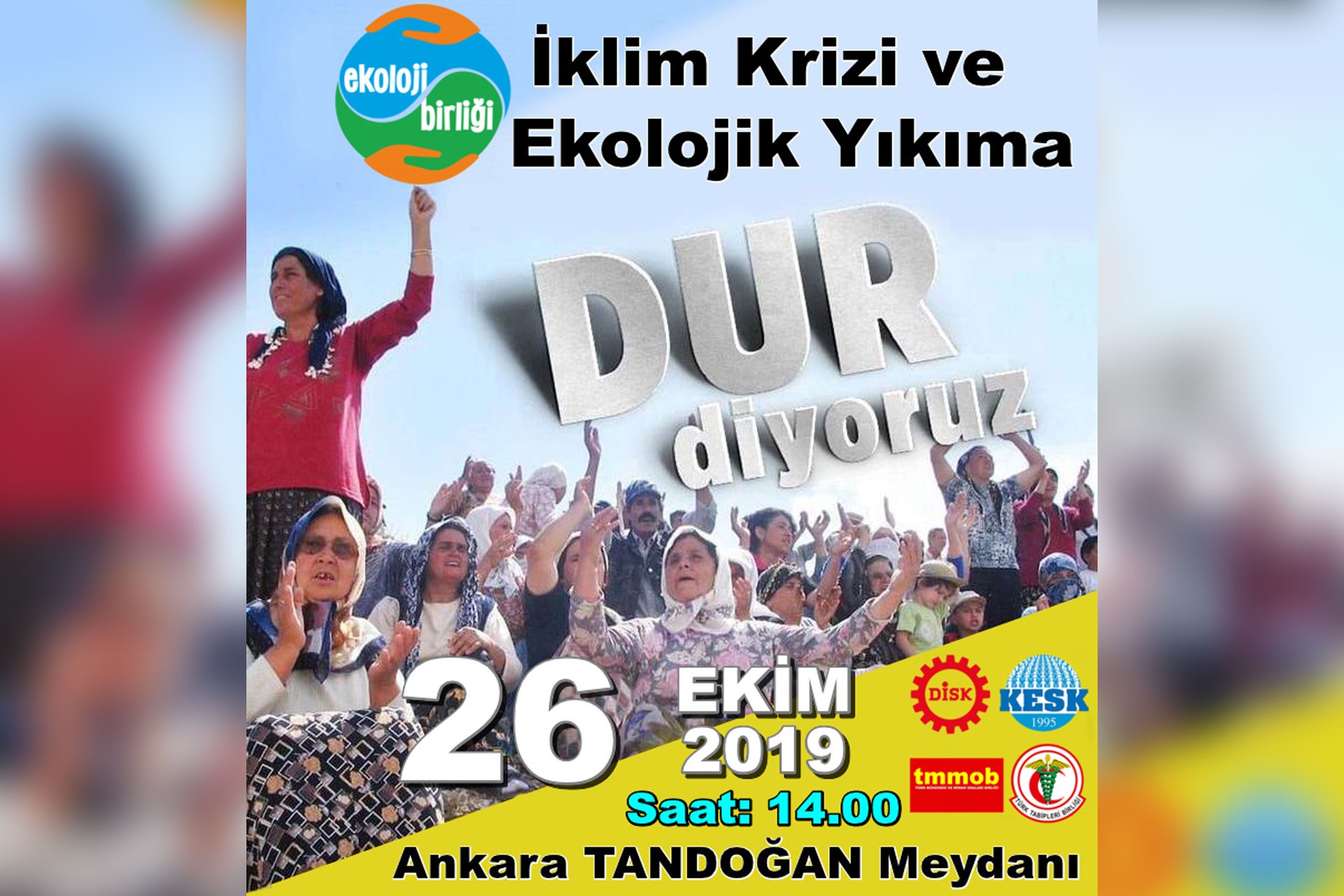 Ekoloji Birliği'nden 26 Ekim Ankara mitingine çağrı