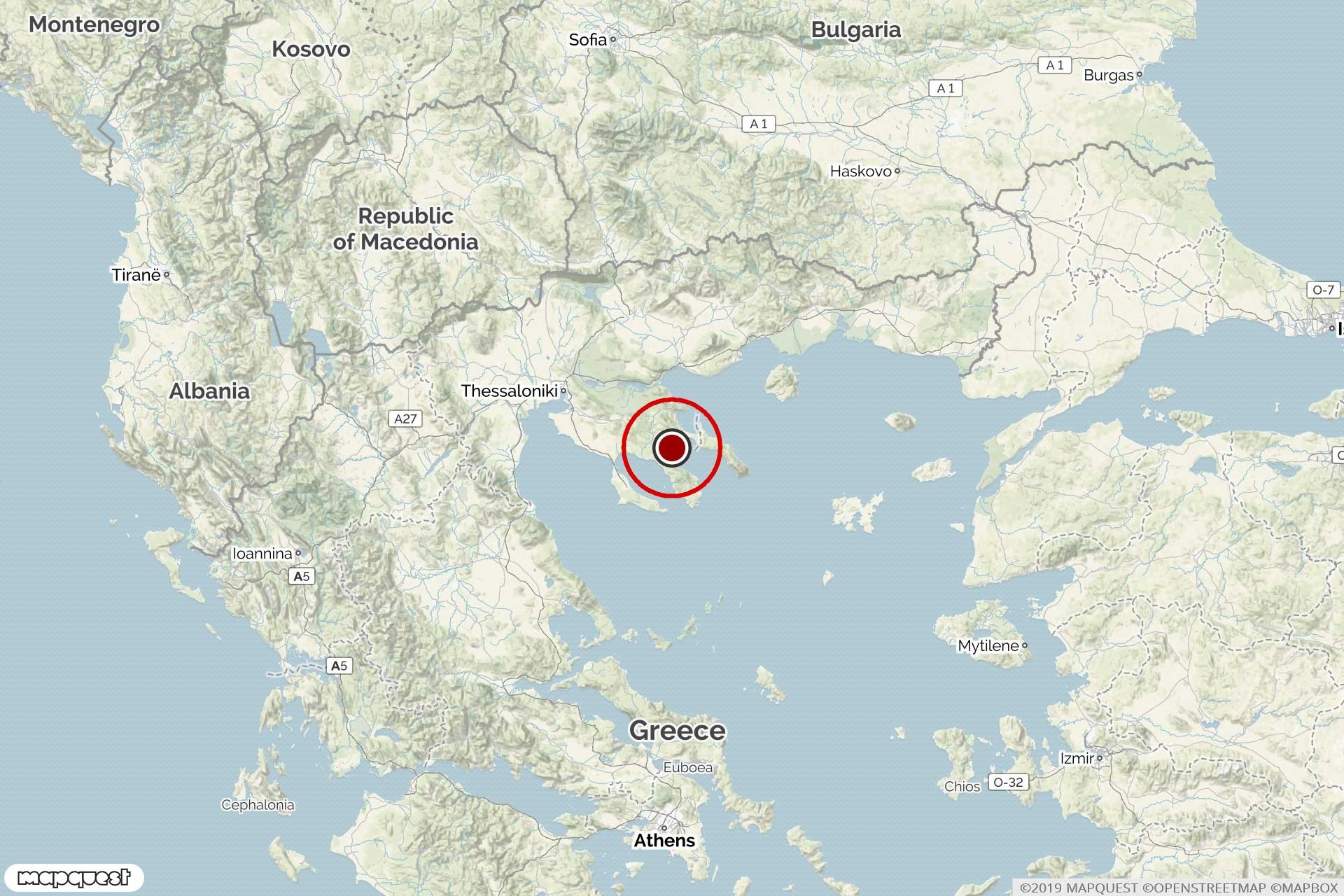 Yunanistan'da 3.6 şiddetinde deprem