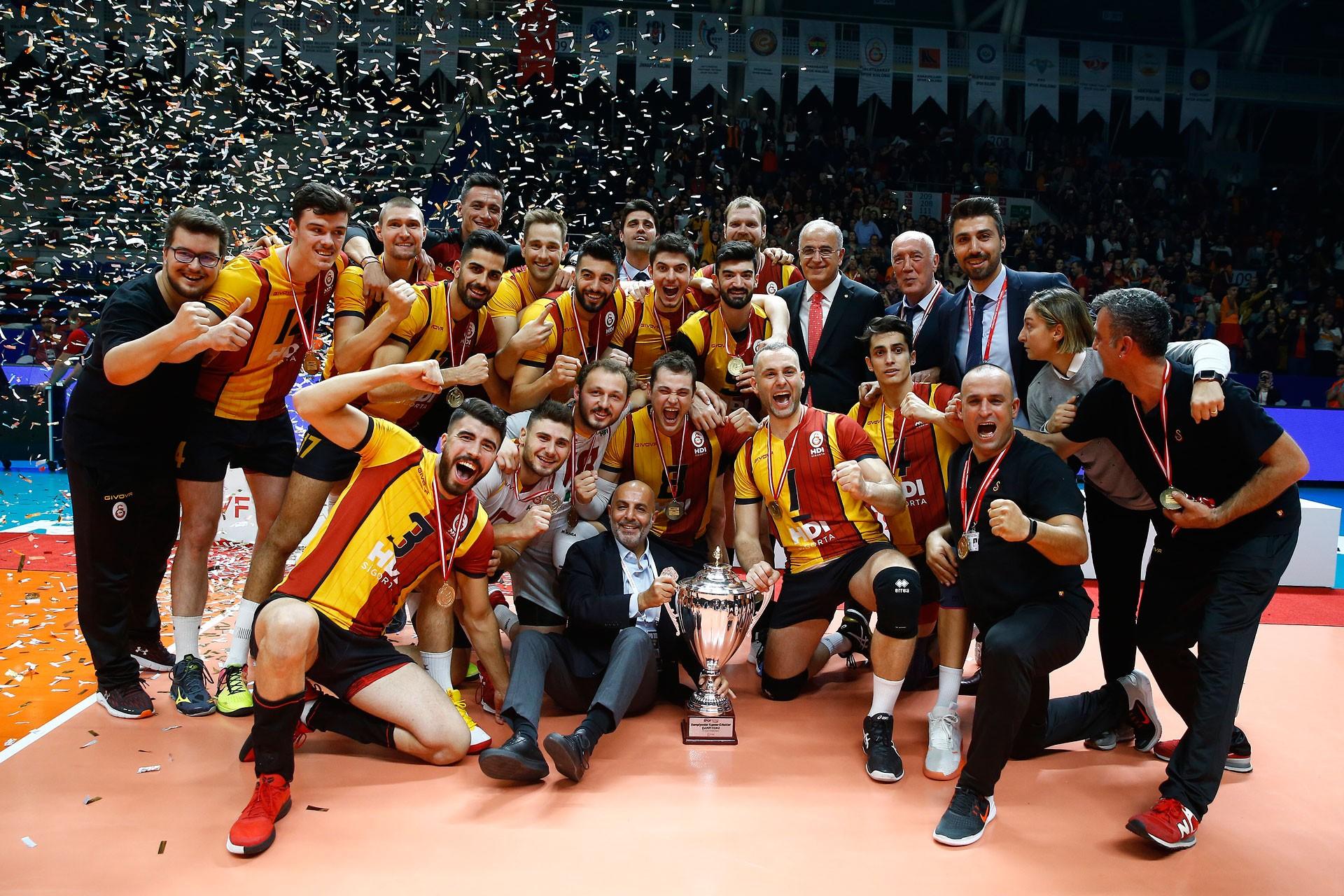 Voleybolda Erkekler Şampiyonlar Kupası'nı Galatasay kazandı