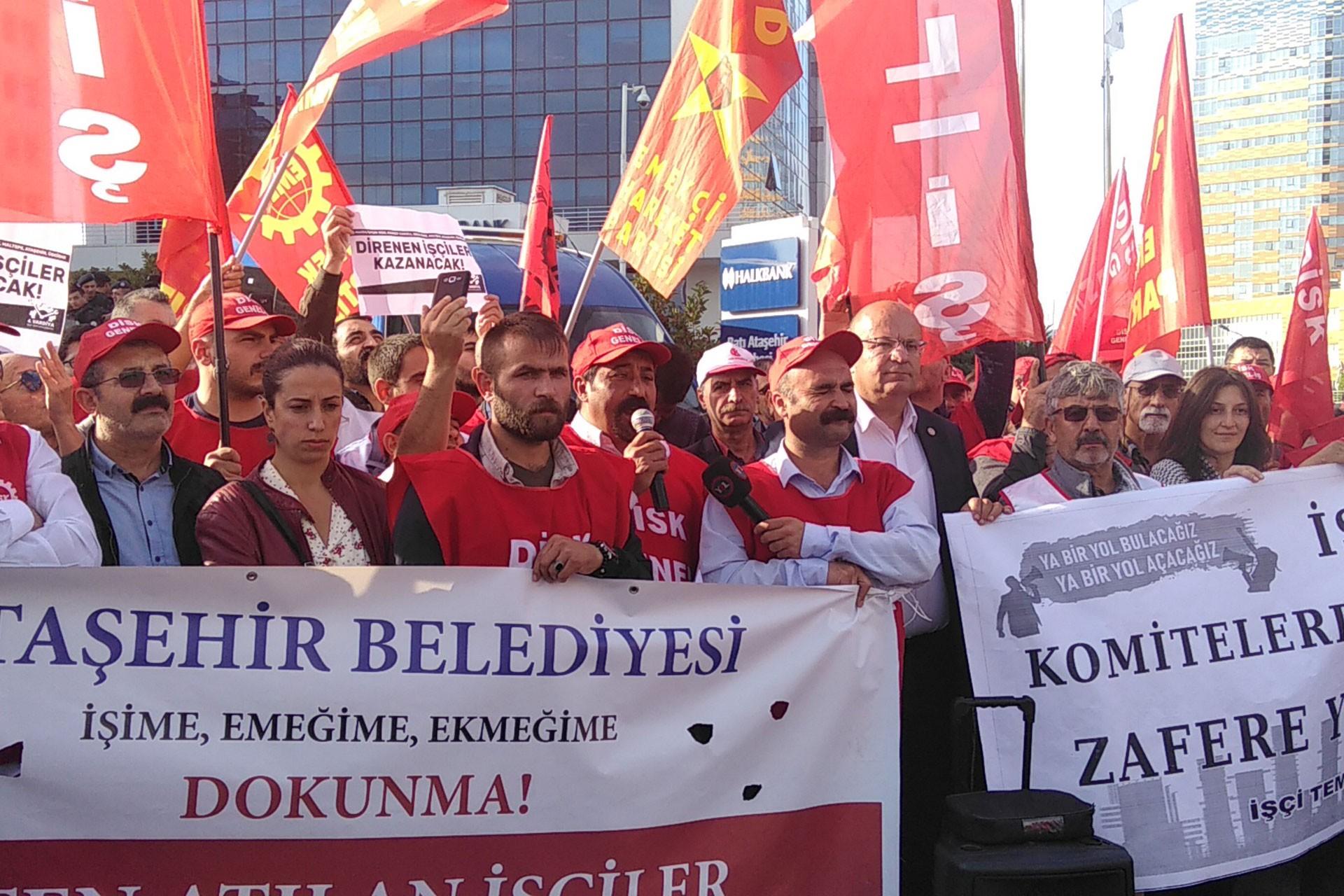 DİSK Genel-İş: İşten atılan Ataşehir Belediyesi işçileri geri alınsın