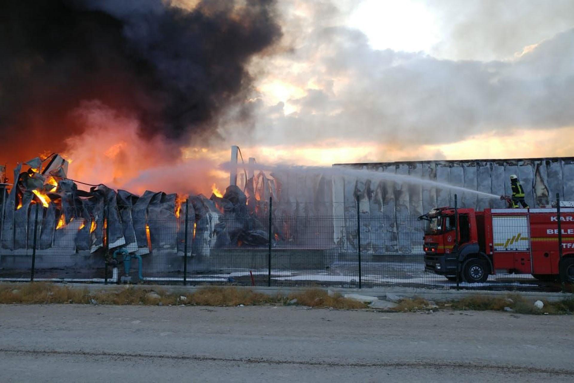 Ereğli Organize Sanayi Bölgesi'nde fabrika yangını: 6 işçi dumandan etkilendi