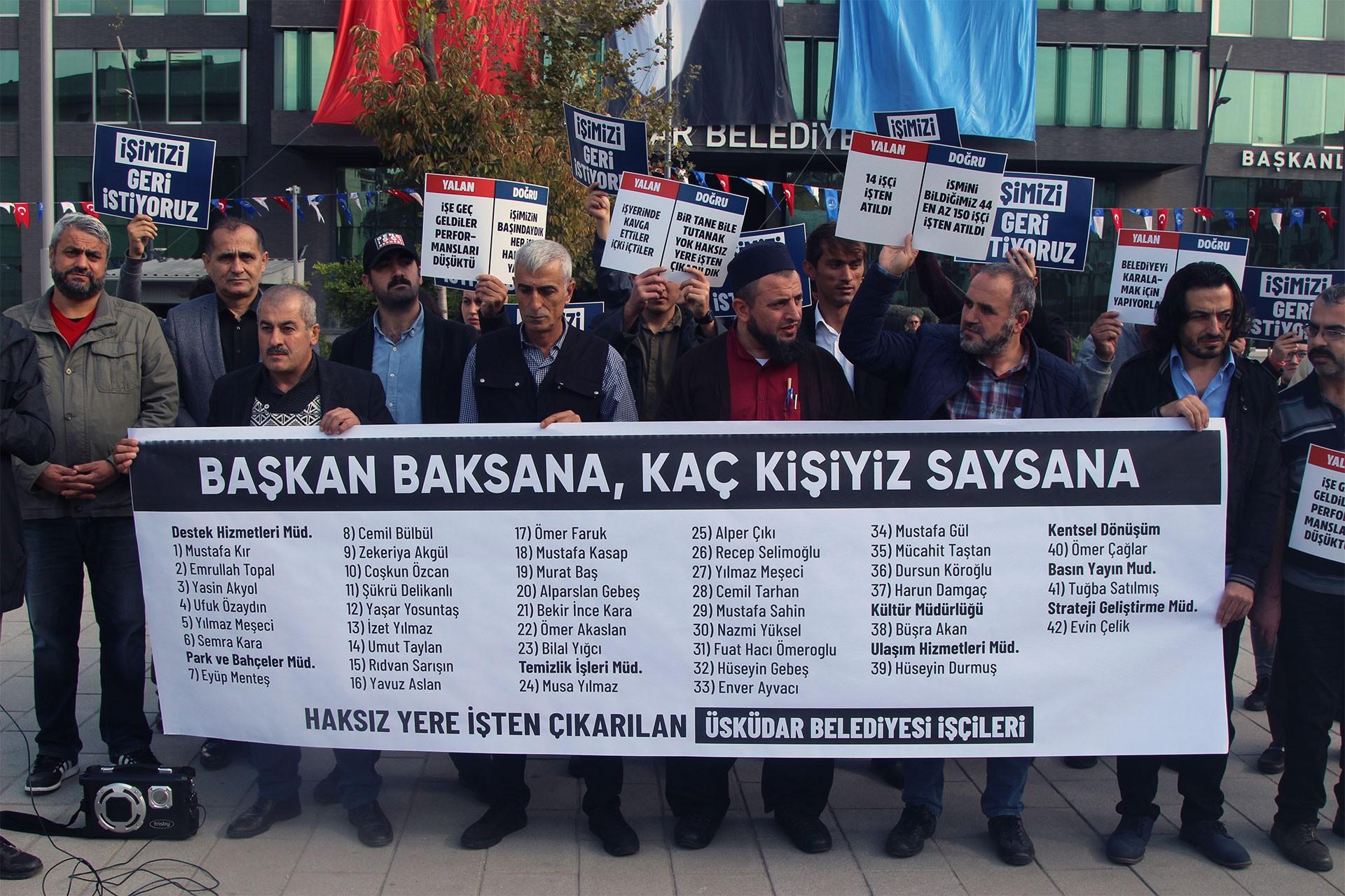 Üsküdar Belediyesinden atılan işçiler: AKP'nin seçim kampanyasında çalıştırıldık