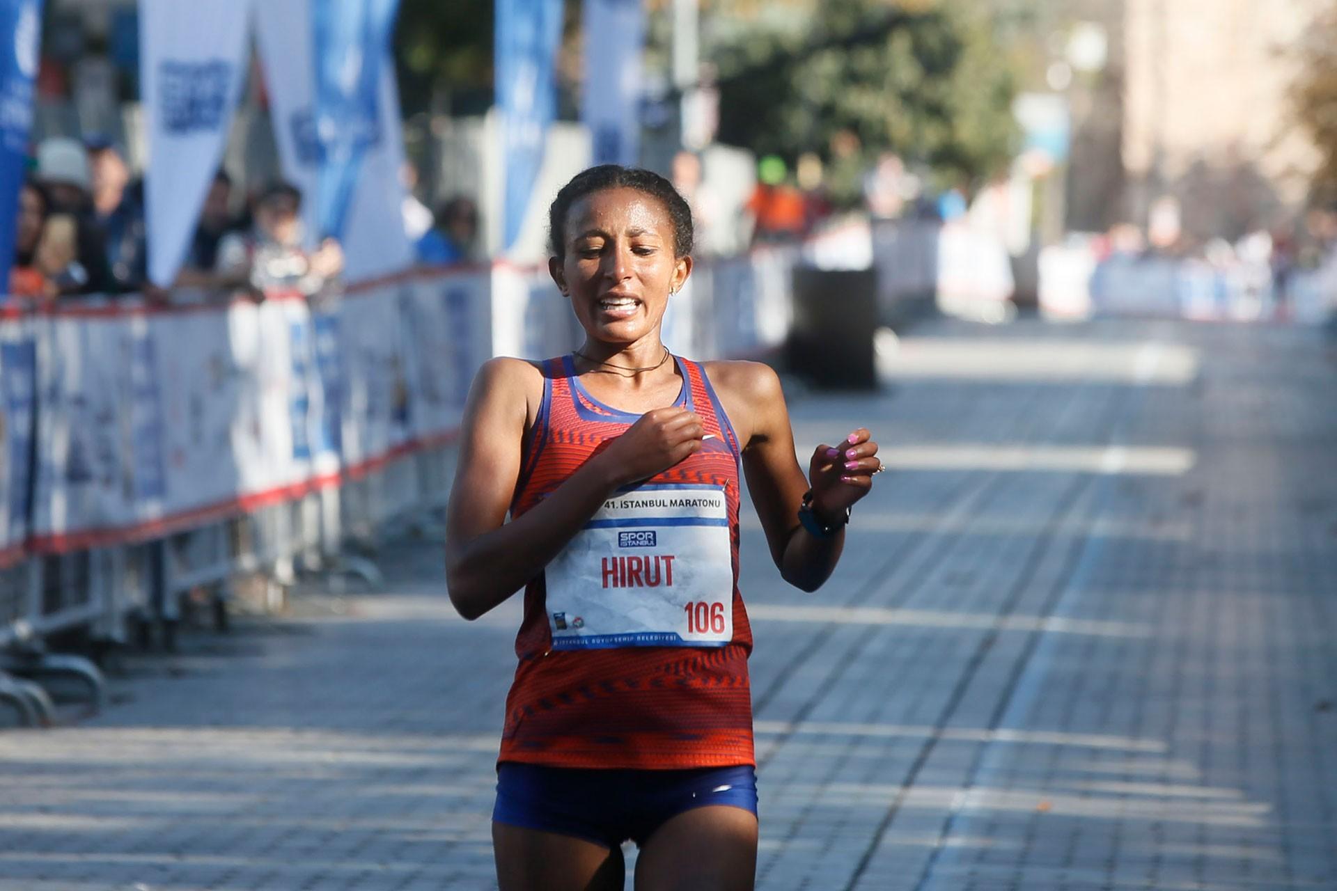 Etiyopyalı atlet Hirut Tibebu