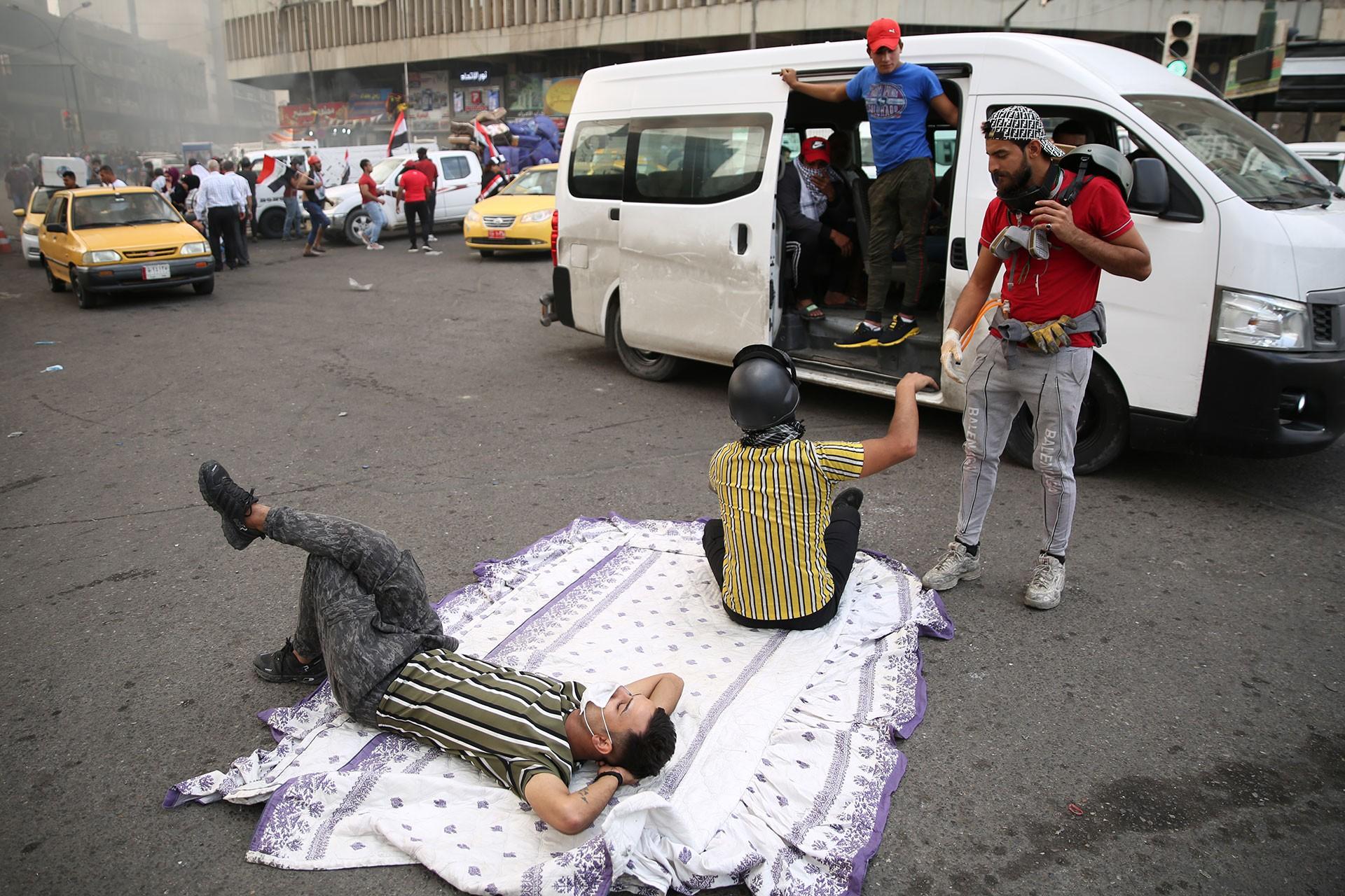 Irak'ın başkenti Bağdat'ta sivil itaatsizlik eylemi