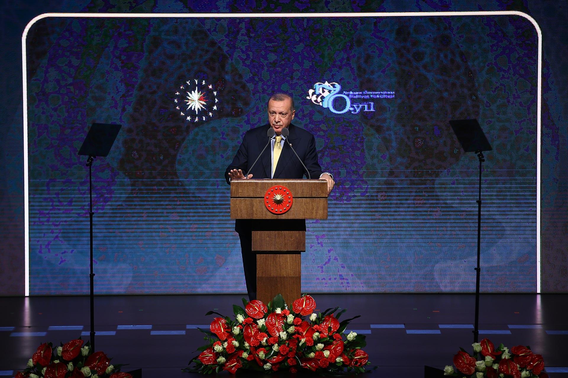 Erdoğan, Ankara Üniversitesi İlahiyat Fakültesi'nin 70. kuruluş yıl dönümü etkinliğinde konuştu