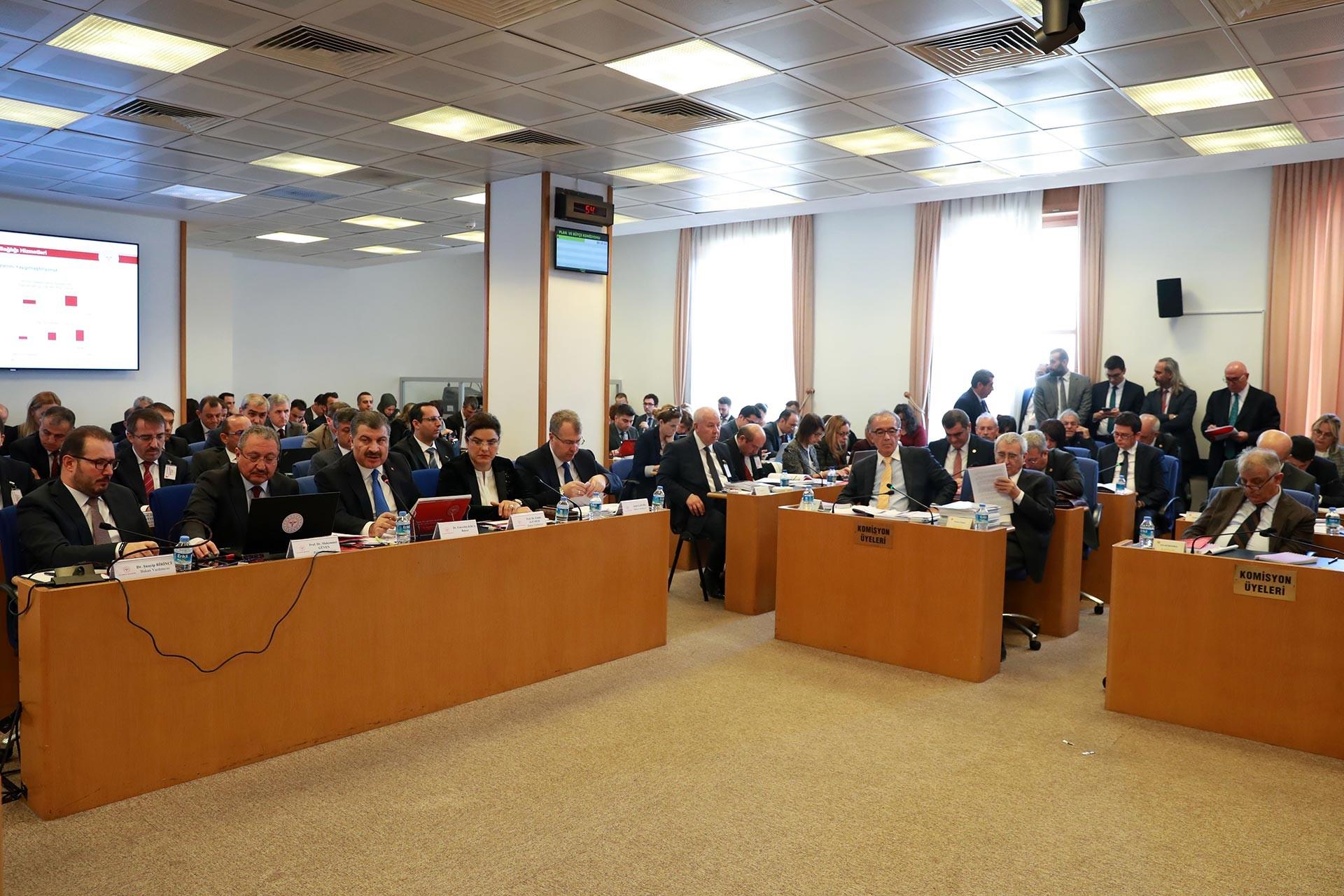 TBMM Plan ve Bütçe Komisyonu Sağlık Bakanlığının 2020 bütçesini görüşürken