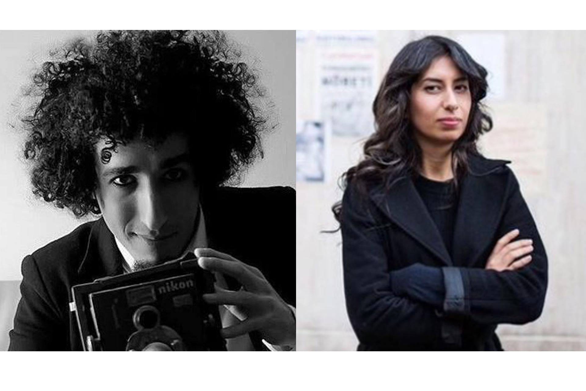 Solda Belgeselci Kazım Kızıl'ın sağda Gazeteci Canan Coşkun'un fotoğrafı yer alıyor
