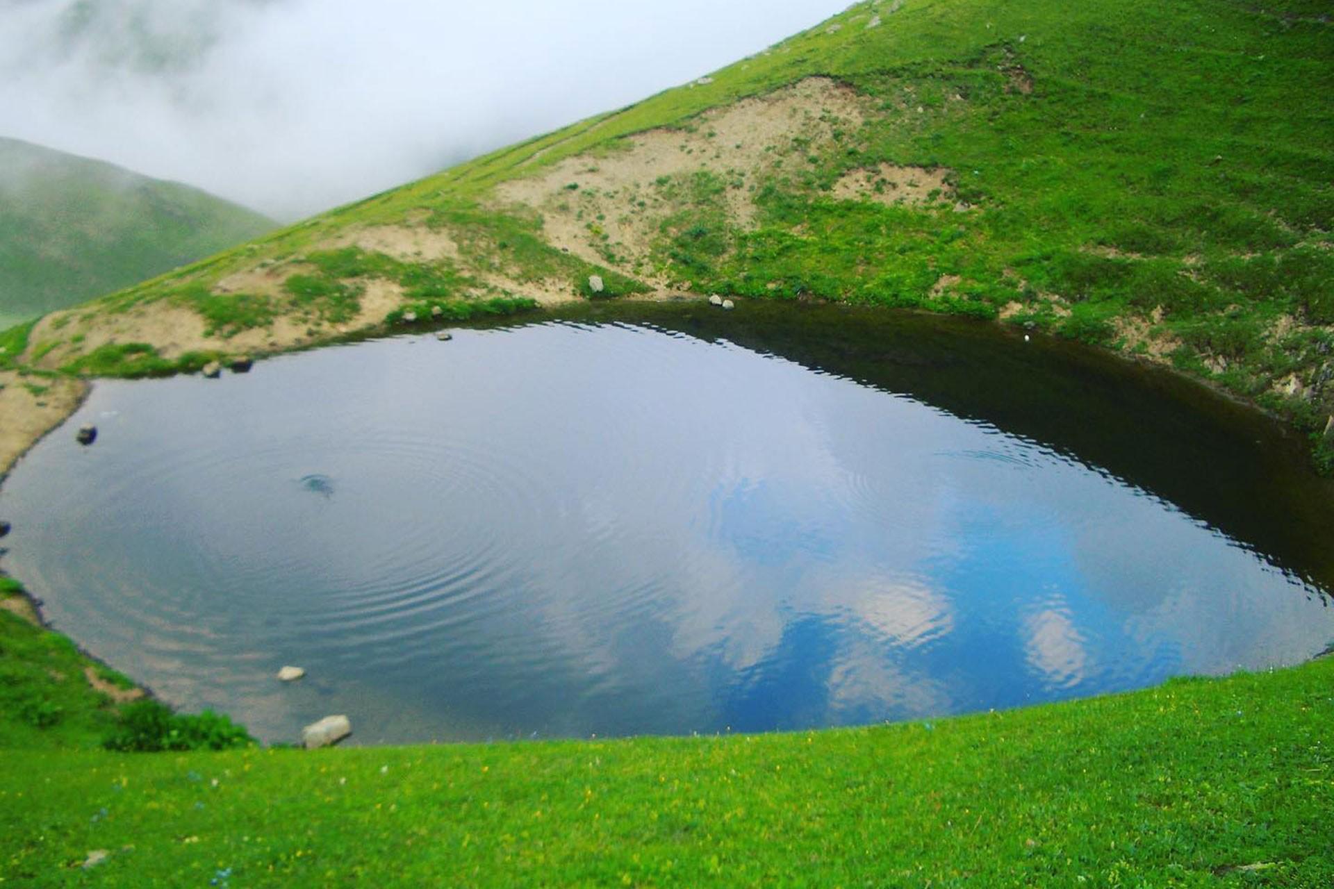 Dipsiz Göl'ün kazı öncesi hali