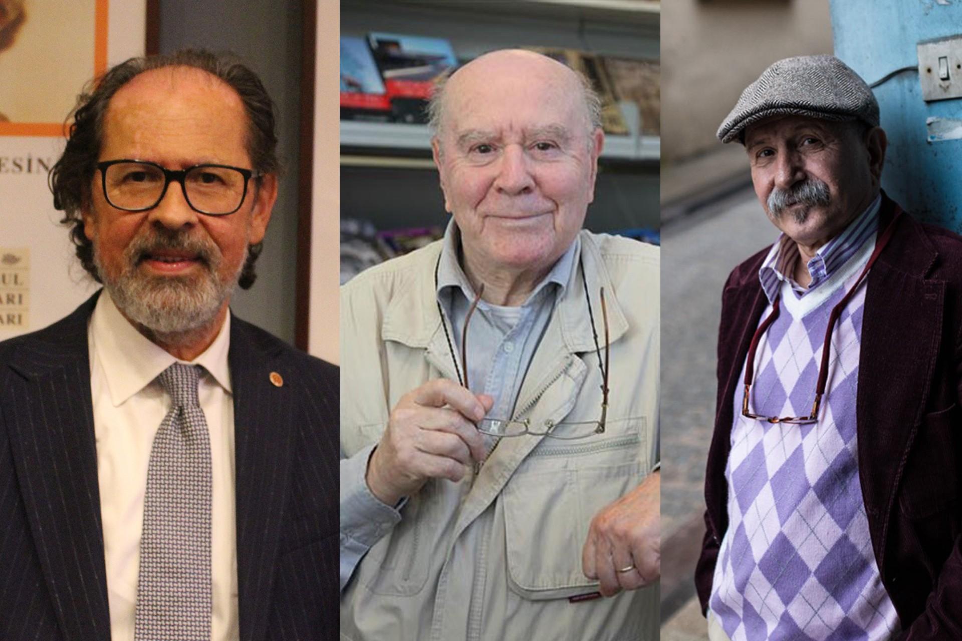 Türkiye Yayıncılar Birliği Genel Başkanı Kenan Kocatürk (solda),Türkiye Yazarlar Sendikası Genel Başkanı Adnan Özyalçıner (ortada), Yayıncılar Kooperatifi Başkanı İlbay Kahraman (sağda)