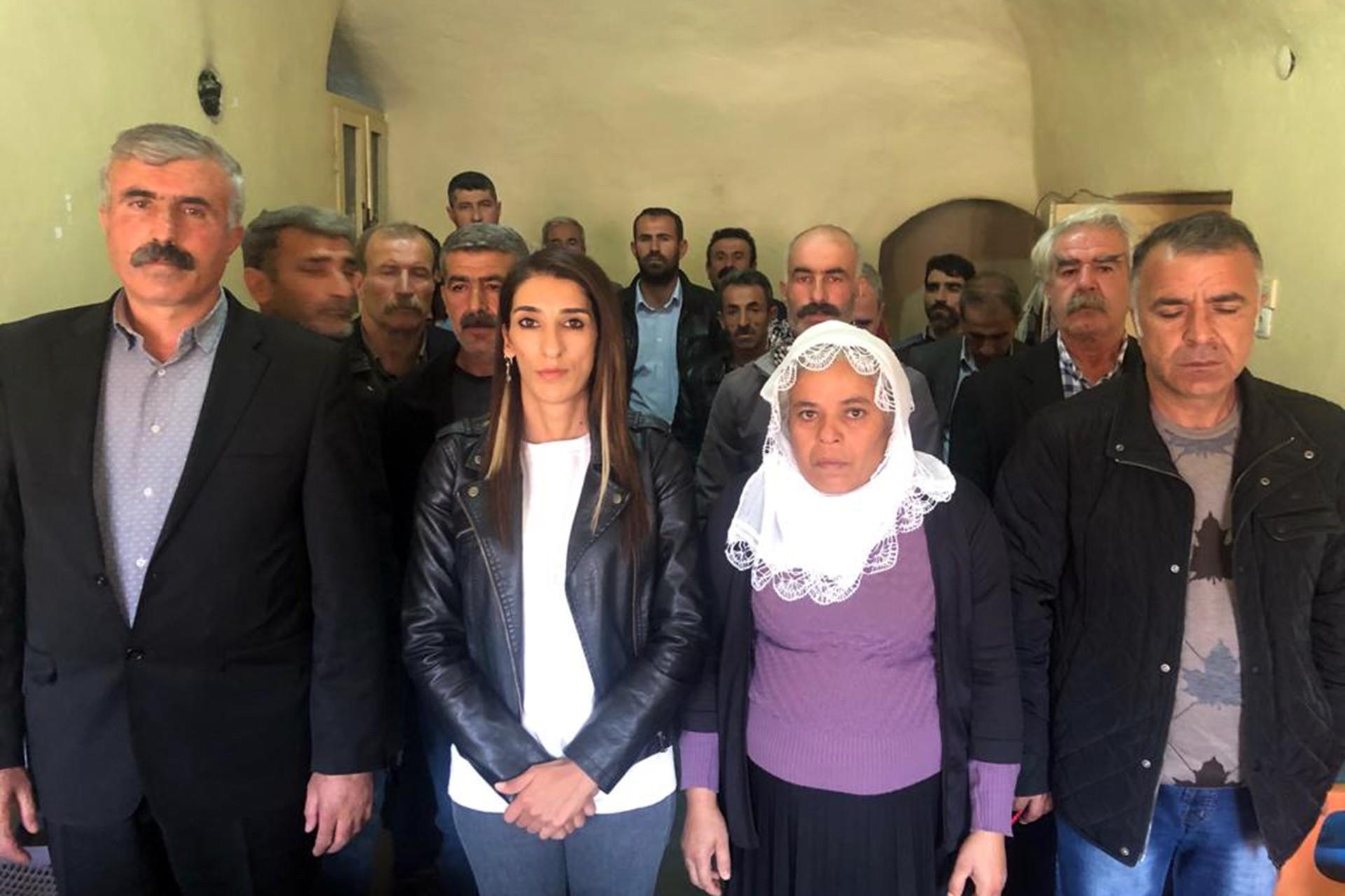 Savur'da HDP İlçe binasında basın açıklaması