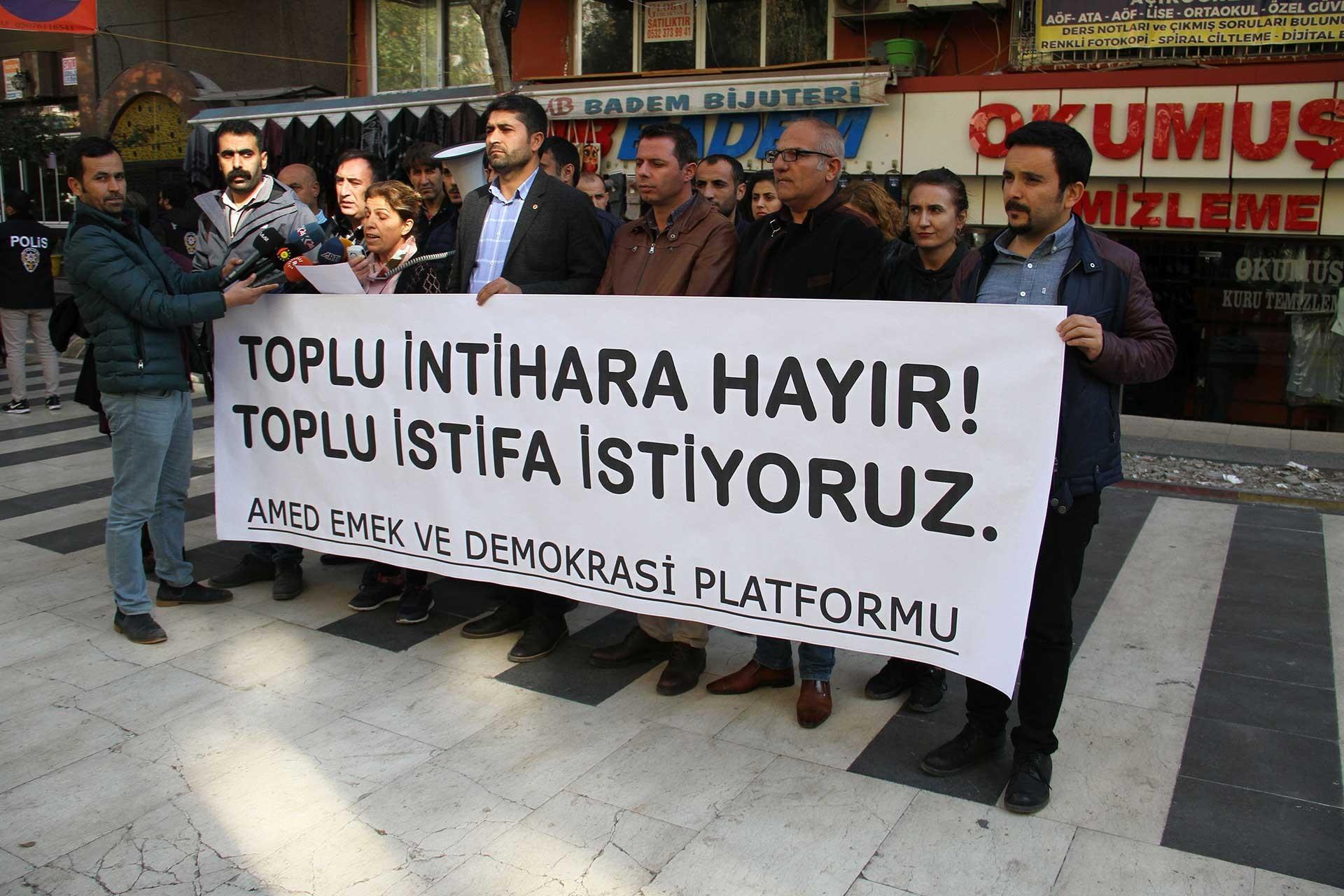 Diyarbakır Emek ve Demokrasi Platformu basın açıklamasında