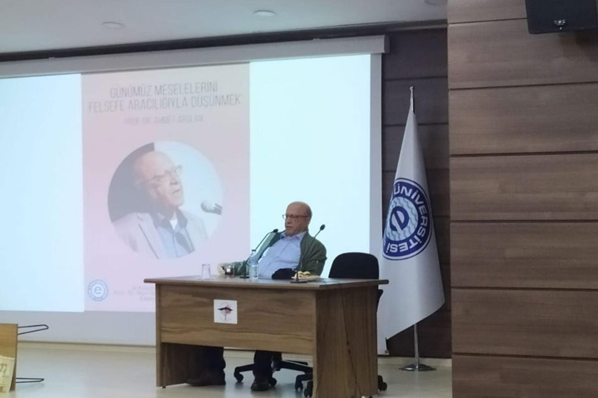 Ege Üniversitesi Felsefe Bölümü Kurucusu Prof. Dr. Ahmet Arslan