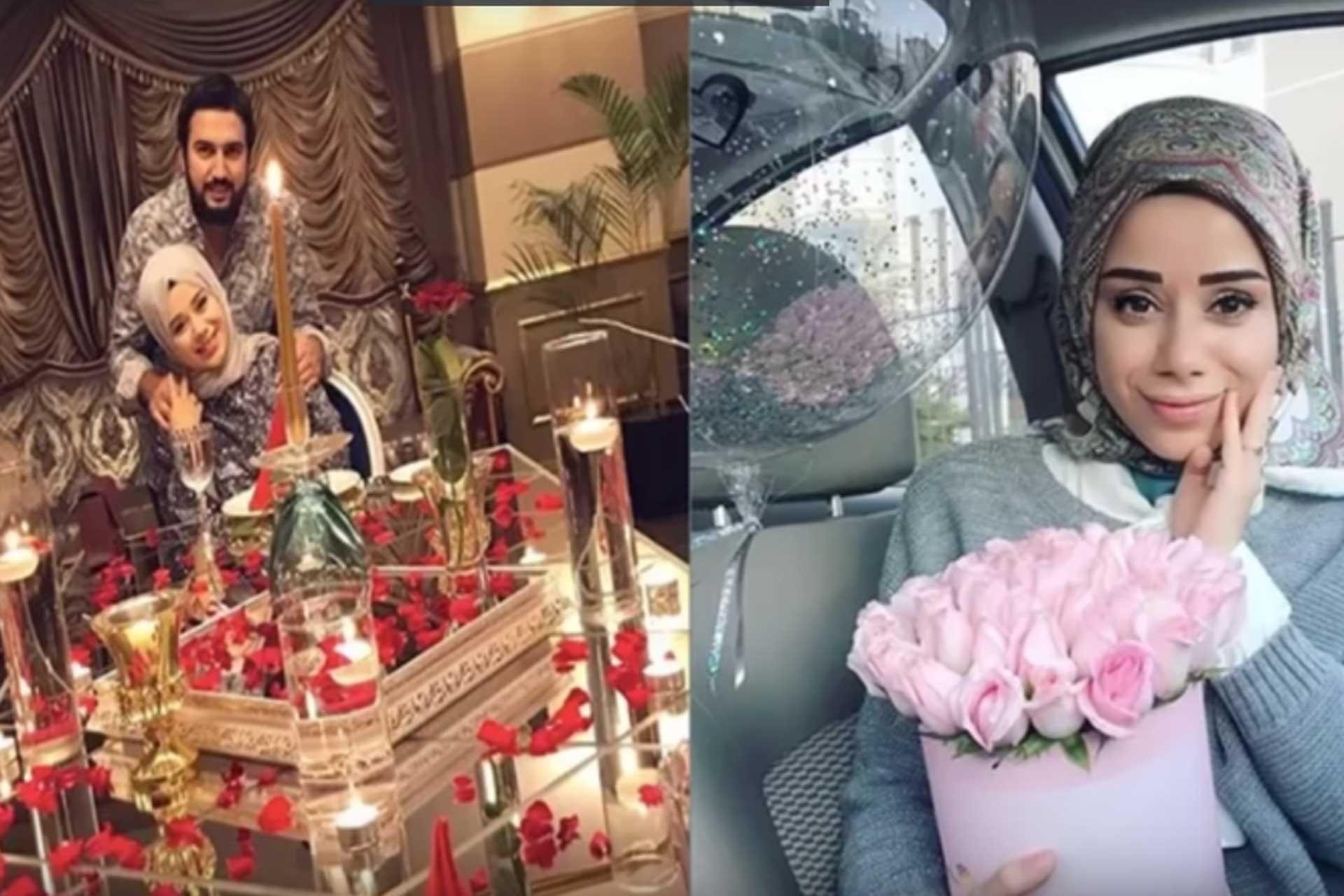 Büşra Nur Çalar ve eşi