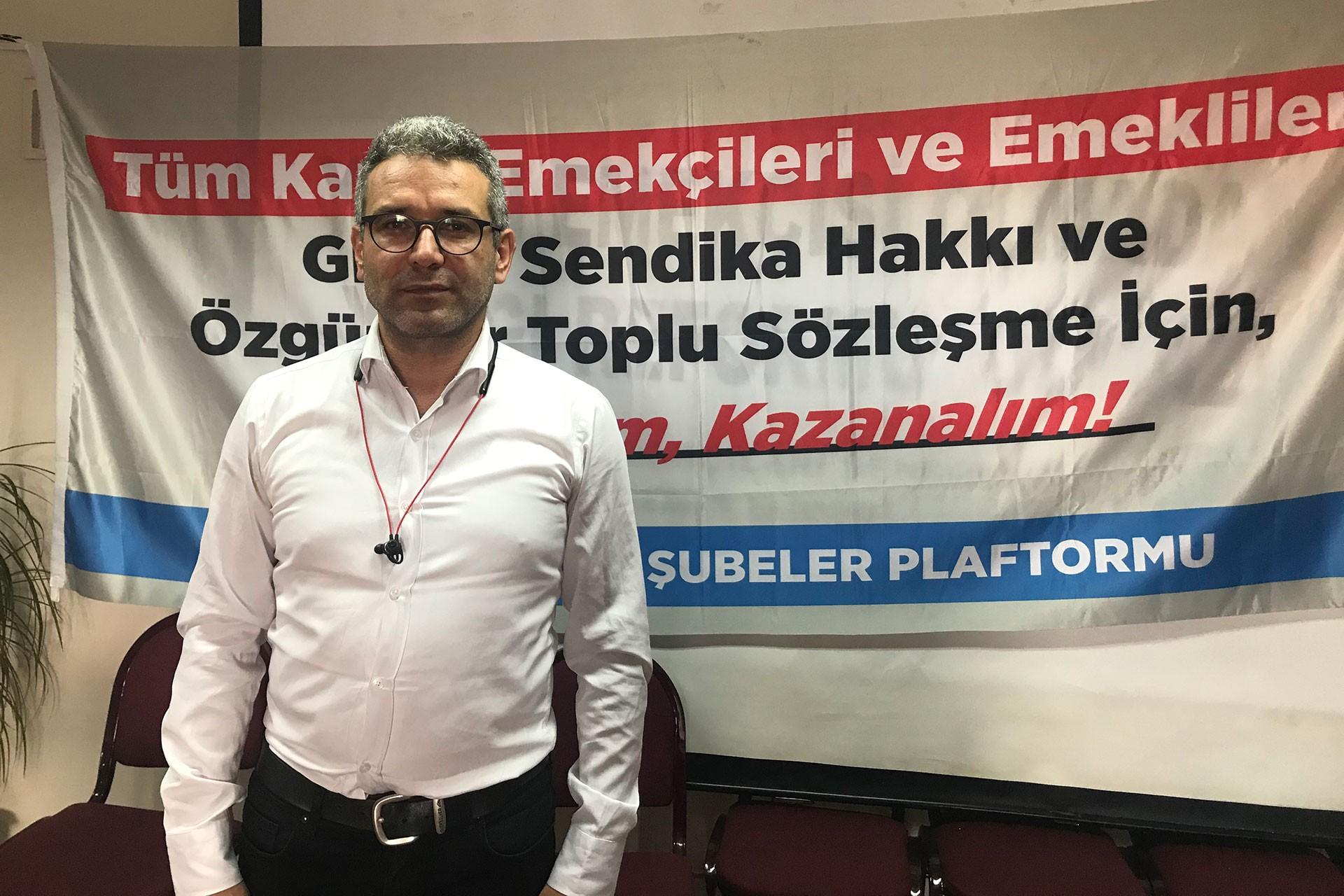 KESK İzmir Şubeler Platformu Dönem Sözcüsü Mustafa Güven
