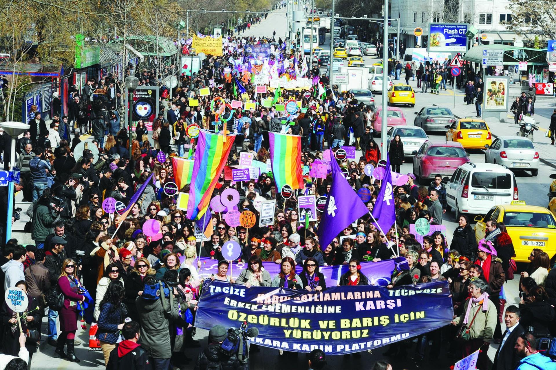 Ankara 25 Kasım yürüyüşü