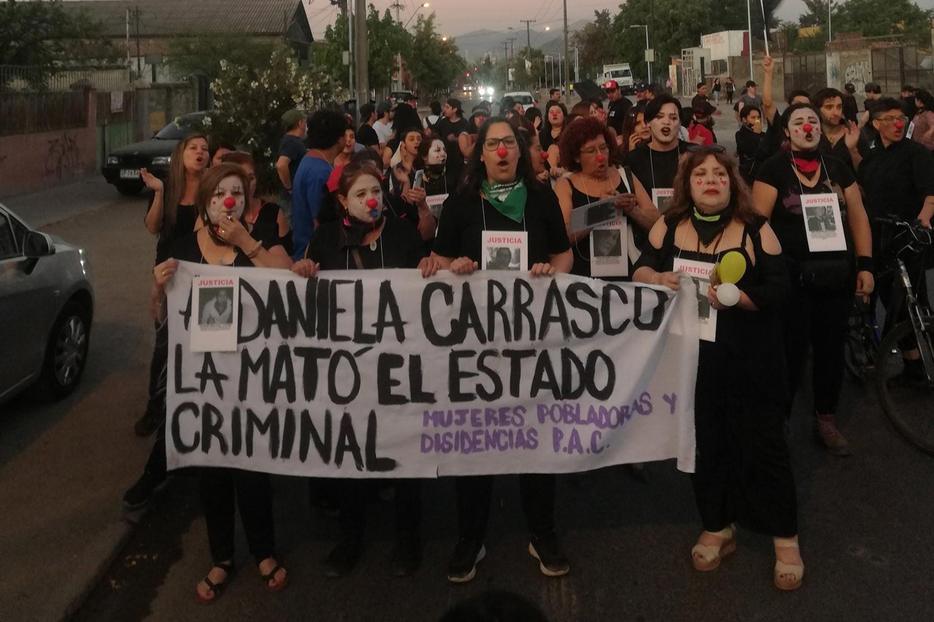 Öldürülen Daniela Carrasco için yapılan eylem