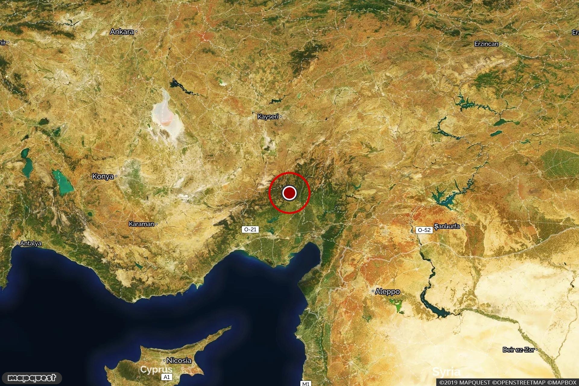 Adana'daki depremin merkez üssü