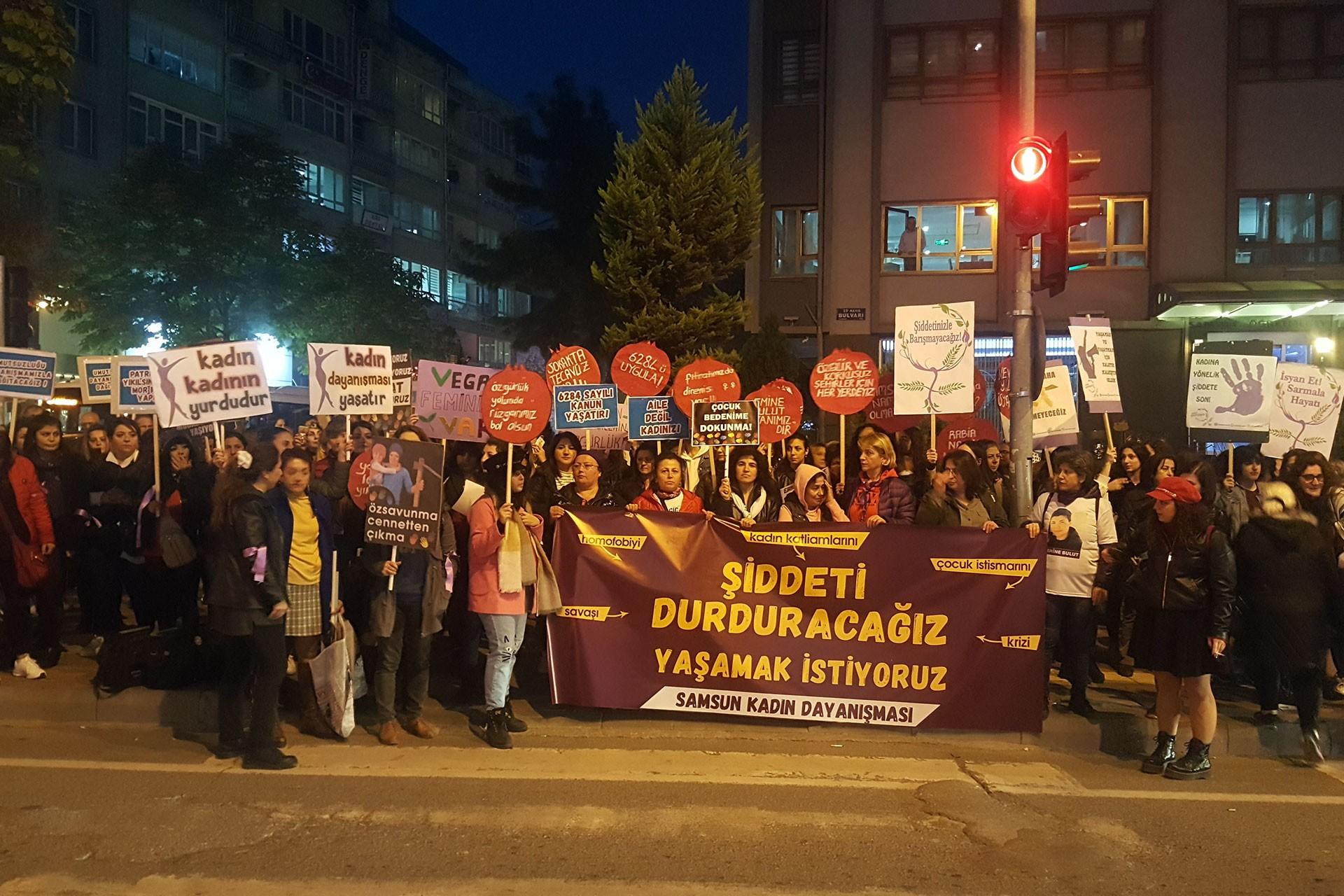 Samsun'daki 25 Kasım eylemi