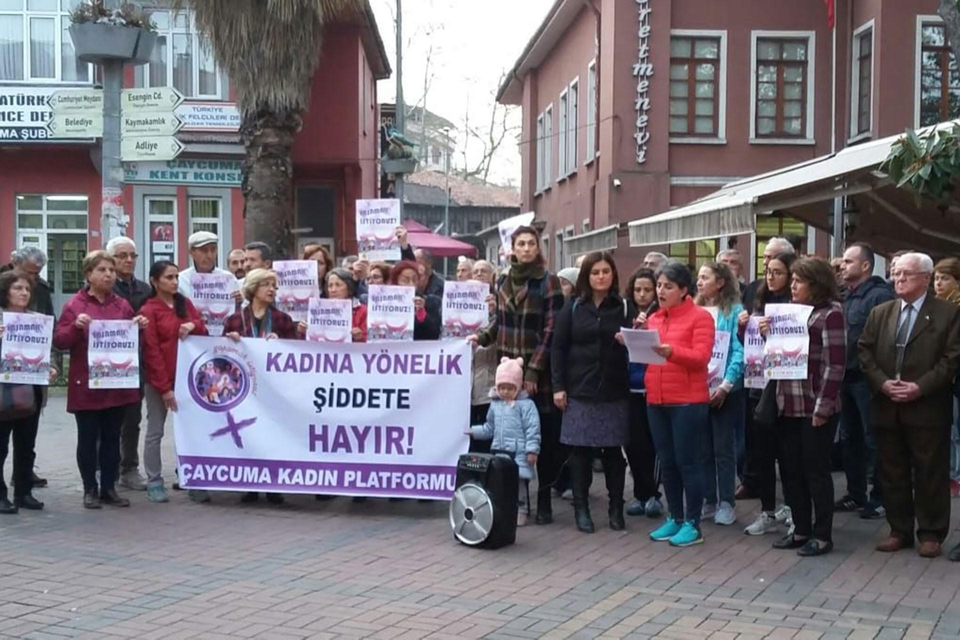Çaycuma'da 25 Kasım eylemi
