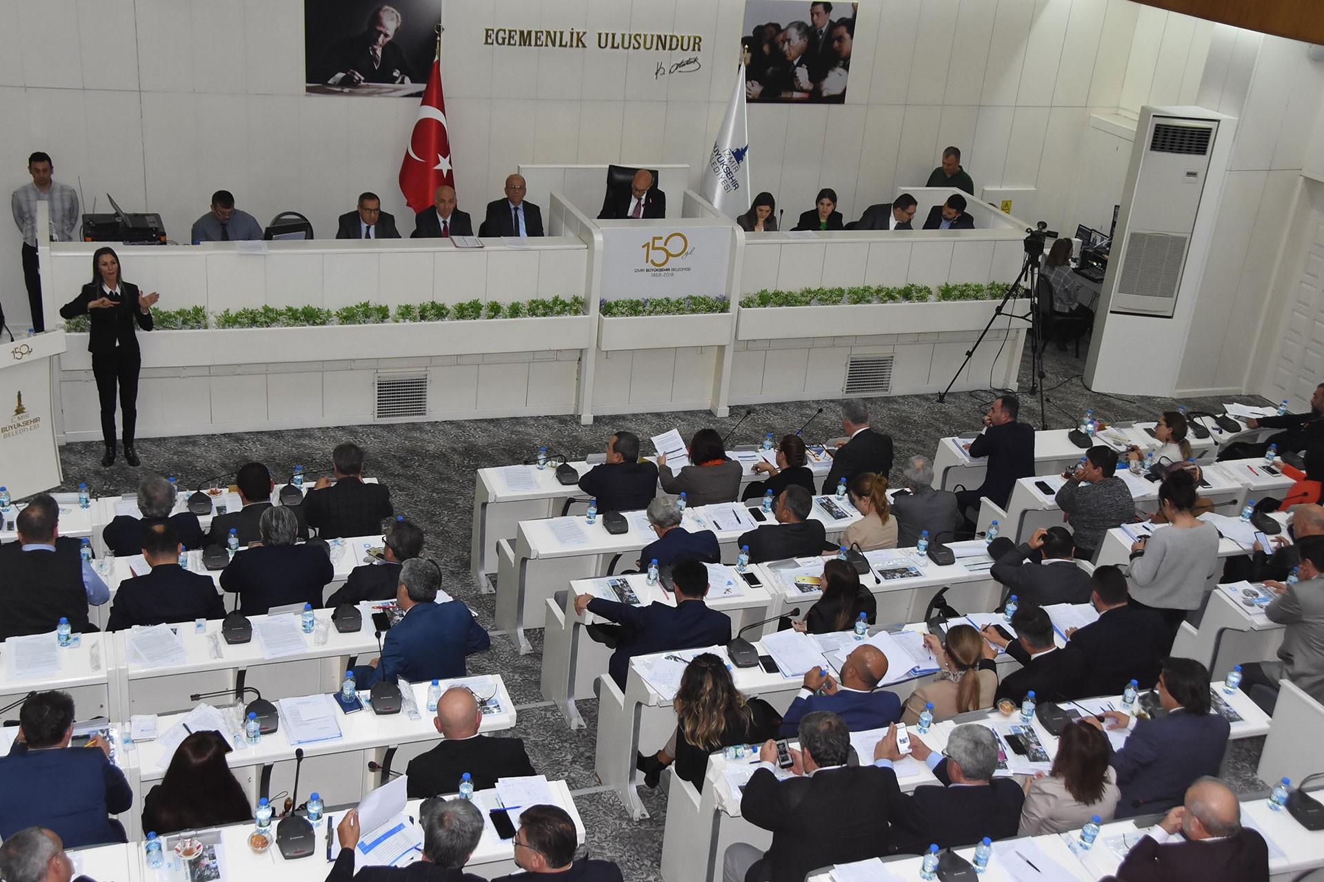 İzmir Büyükşehir Belediye Meclisi toplantısı