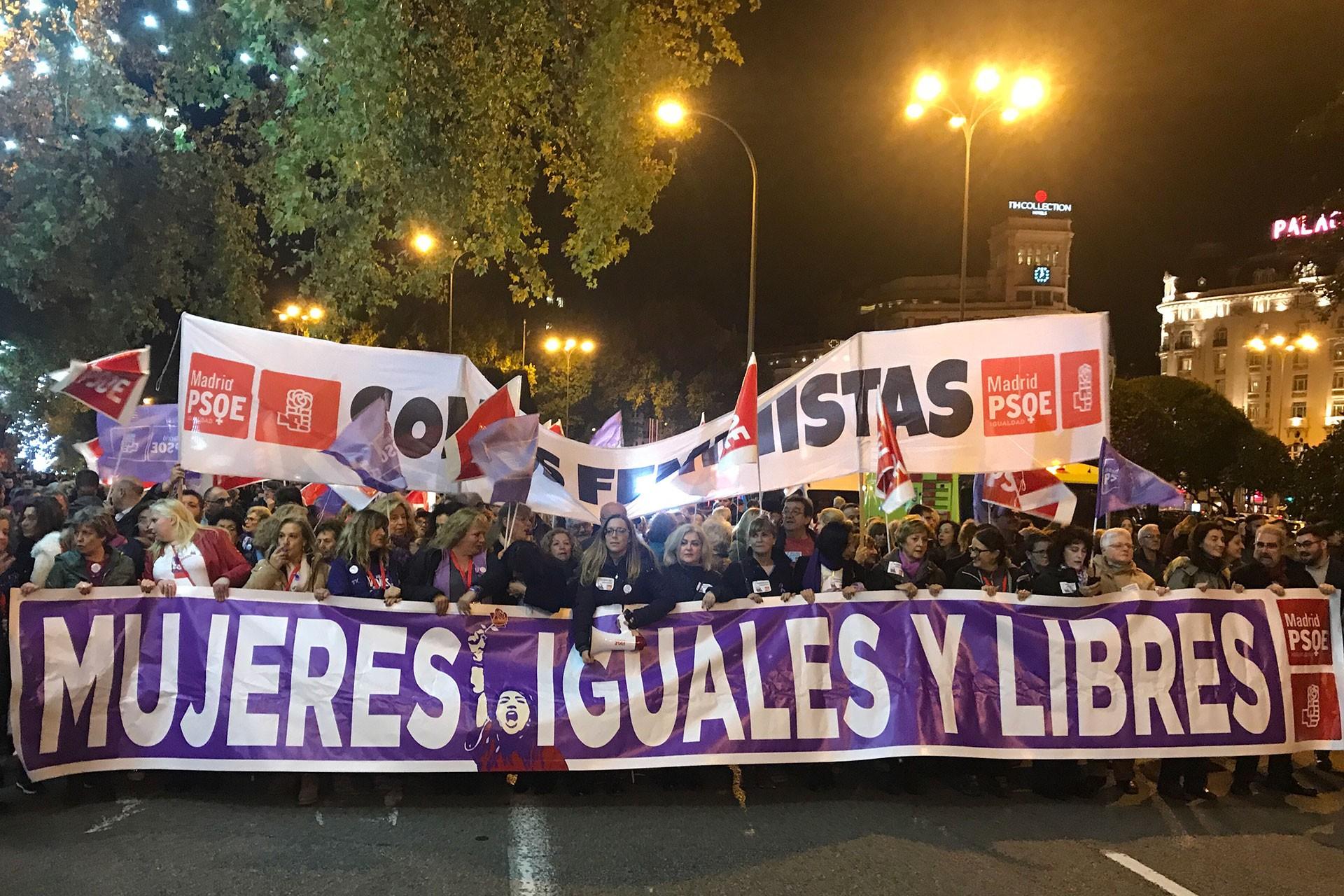 İspanya'da 25 Kasım eylemi