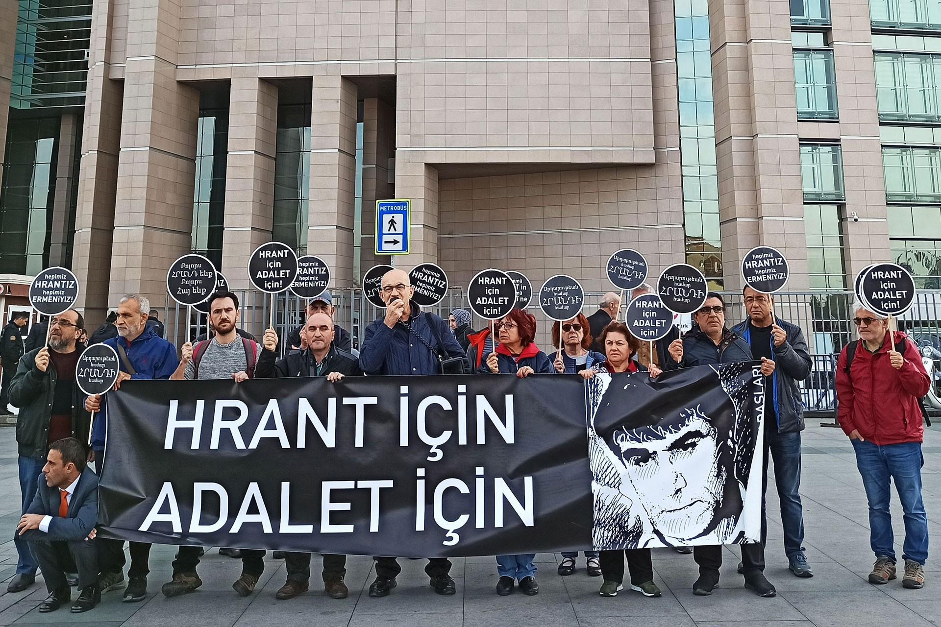 Hrant Dink davası öncesi yapılan basın açıklaması