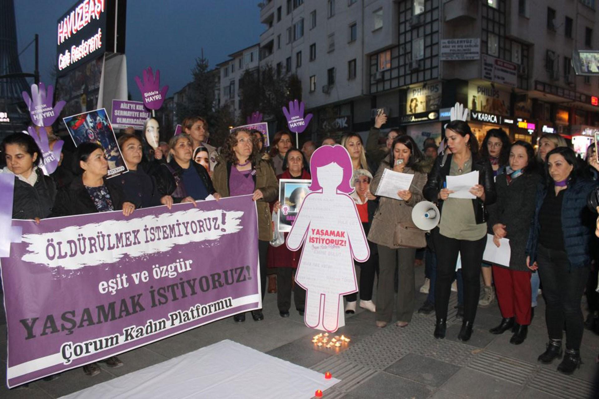 Çorum'da 25 Kasım eylemi