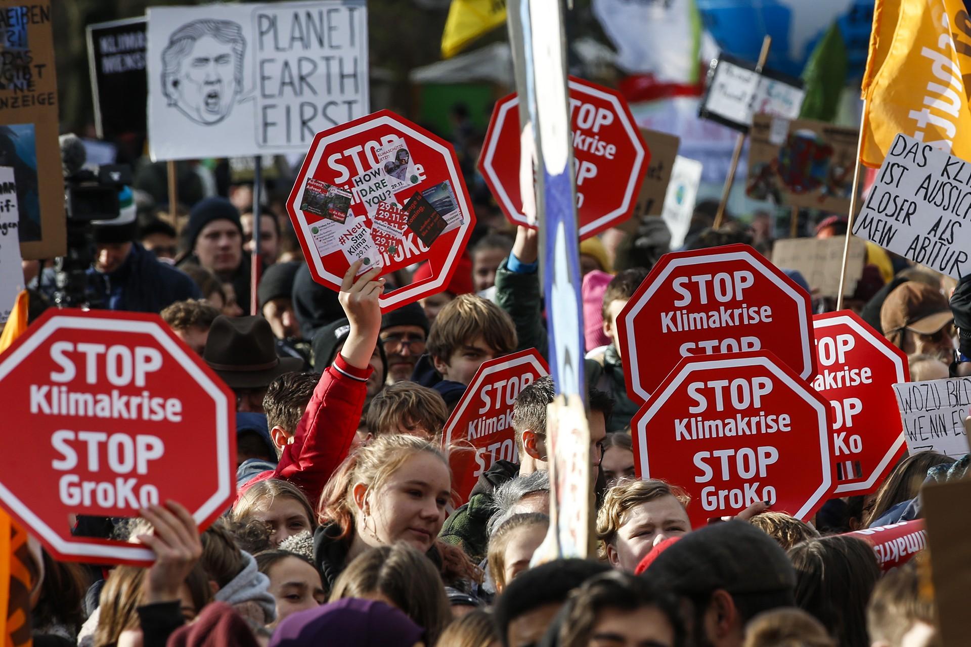 Almanya'da iklim protestosu düzenleniyor