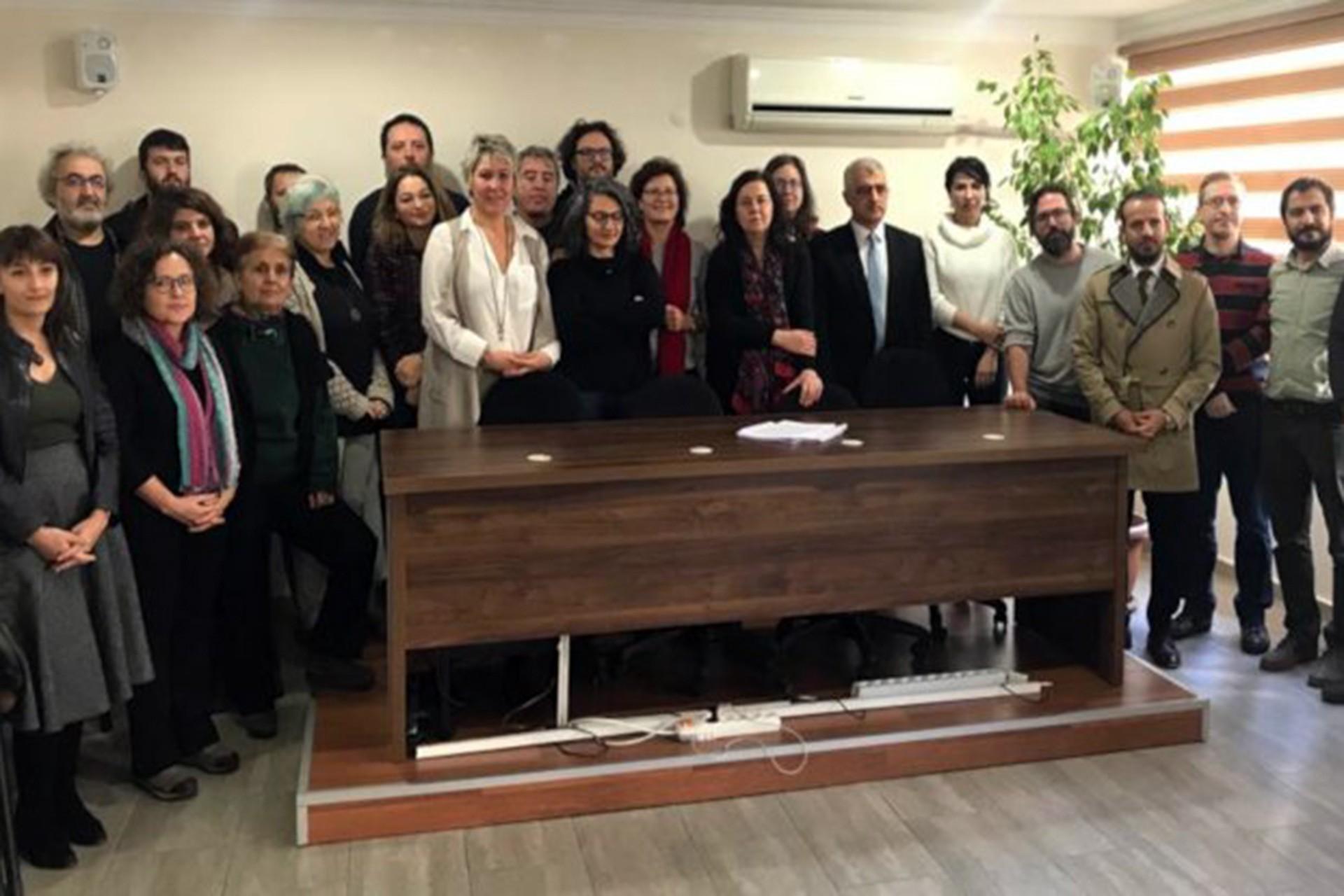 Ankara'da Eğitim Sen 5 No'lu Şube'de basın toplantısı düzenleniyor
