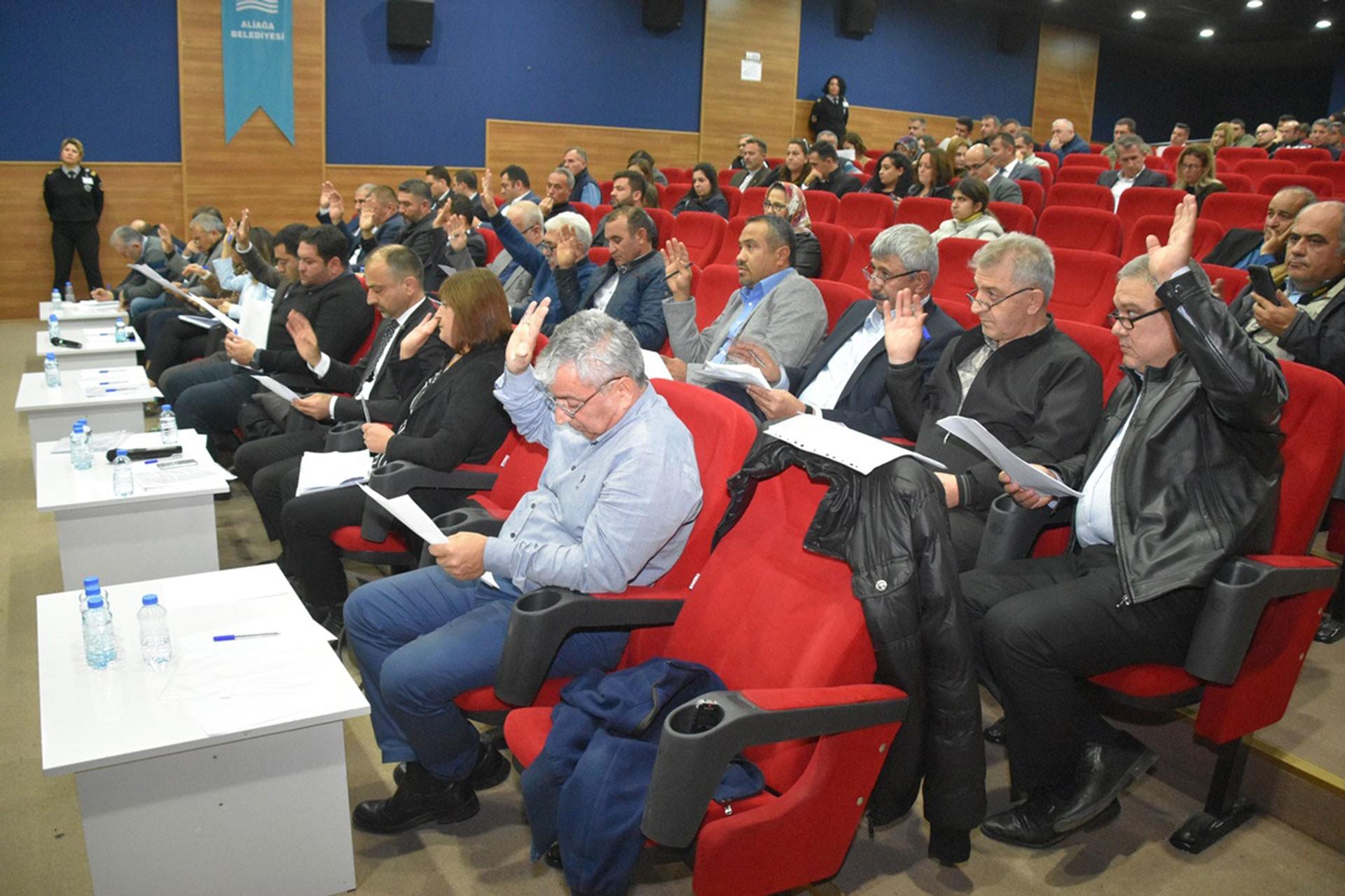 Aliağa Belediyesi meclis toplantısı