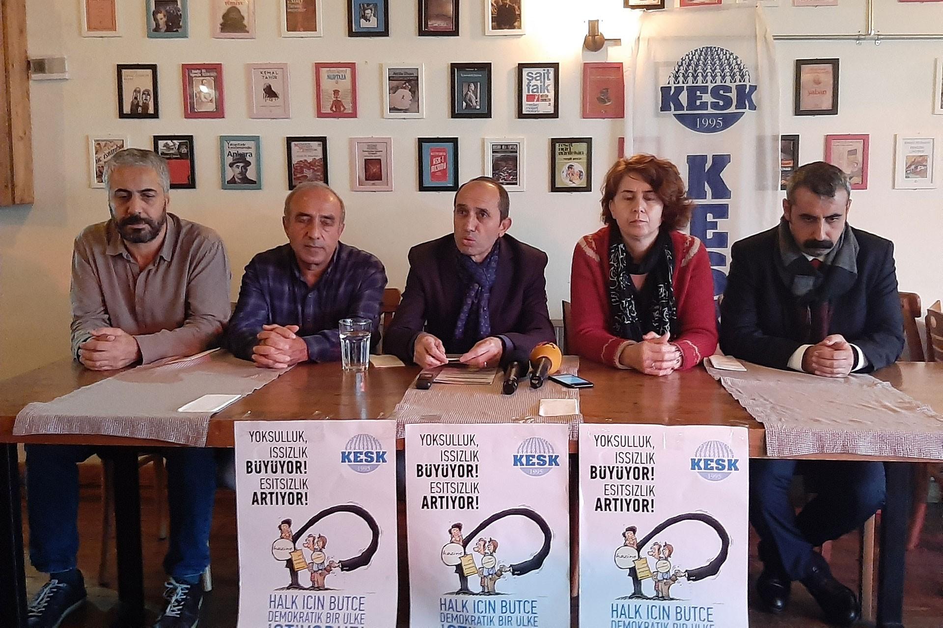 KESK İstanbul Şubeler Platformu üyeleri