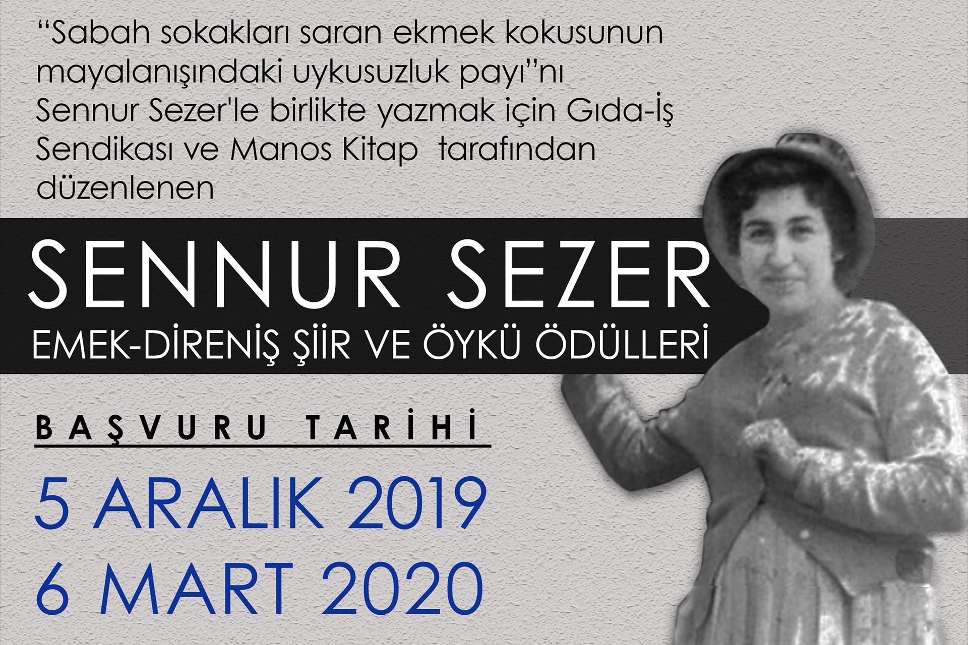 Sennur Sezer Emek-Direniş Şiir ve Öykü Ödülleri afişi