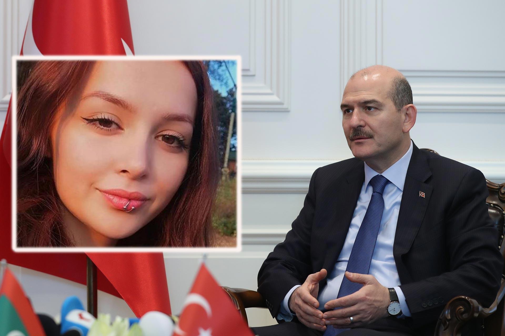 Ordu'da öldürülen Ceren Özdemir ve İçişleri Bakanı Süleyman Soylu