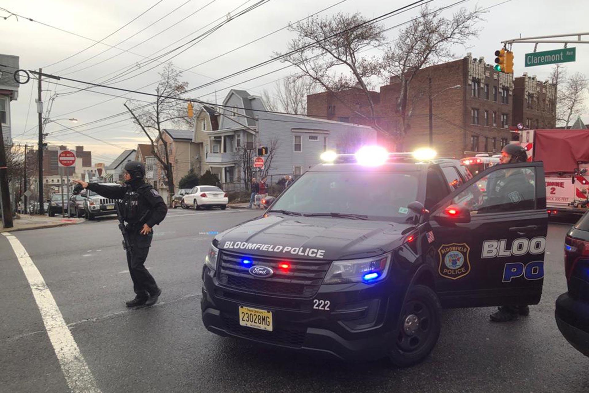 ABD'de olayın yaşandığı bölgede bir polis aracı