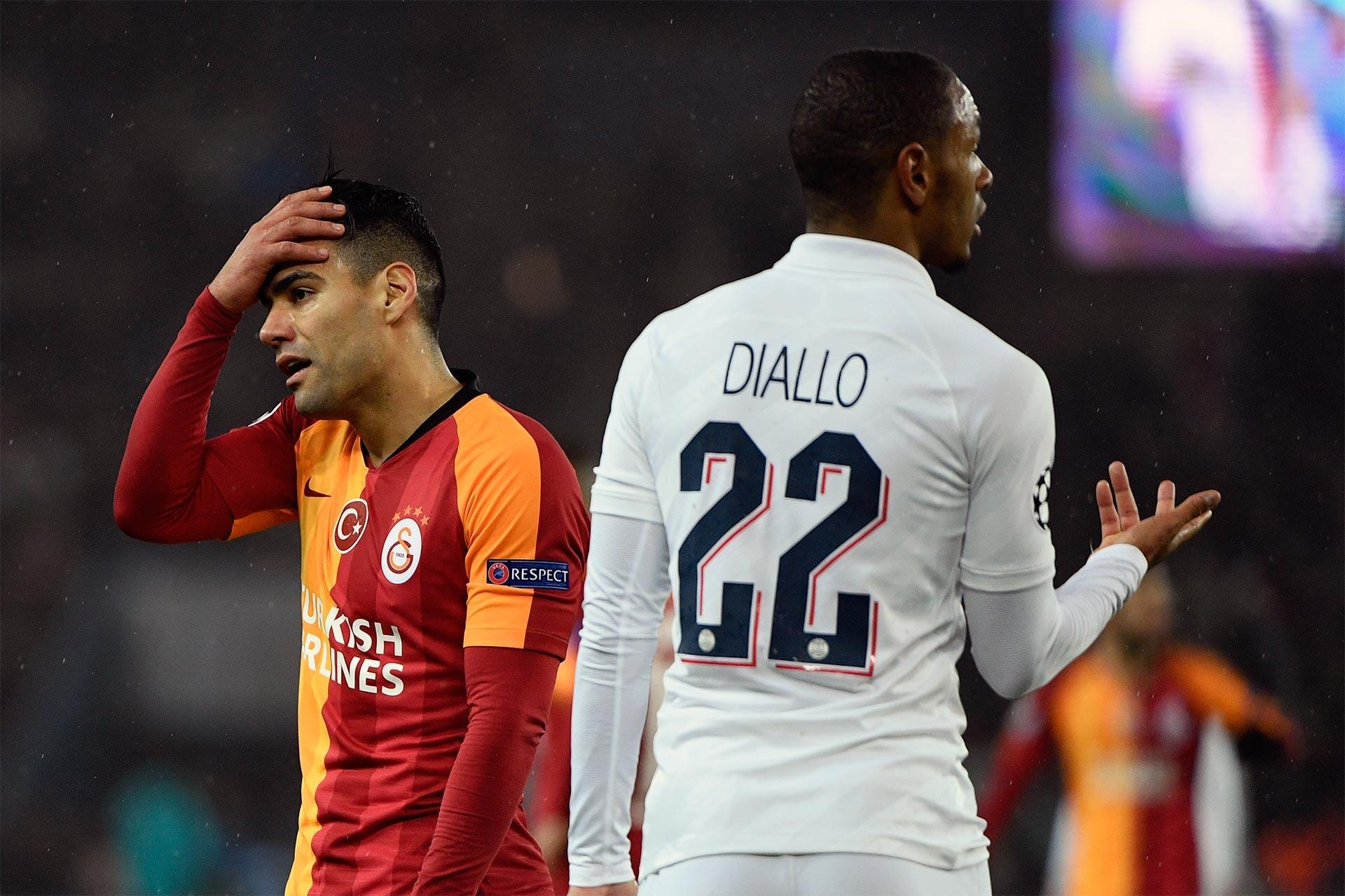 Galatasaray-PSG maçından bir an
