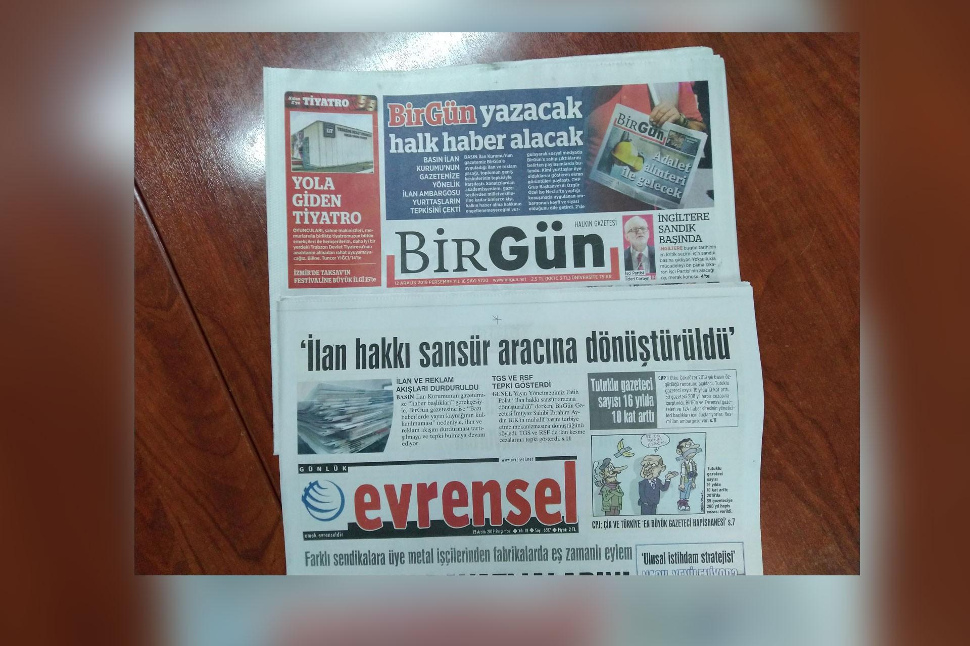 BirGün ve Evrensel gazetesi