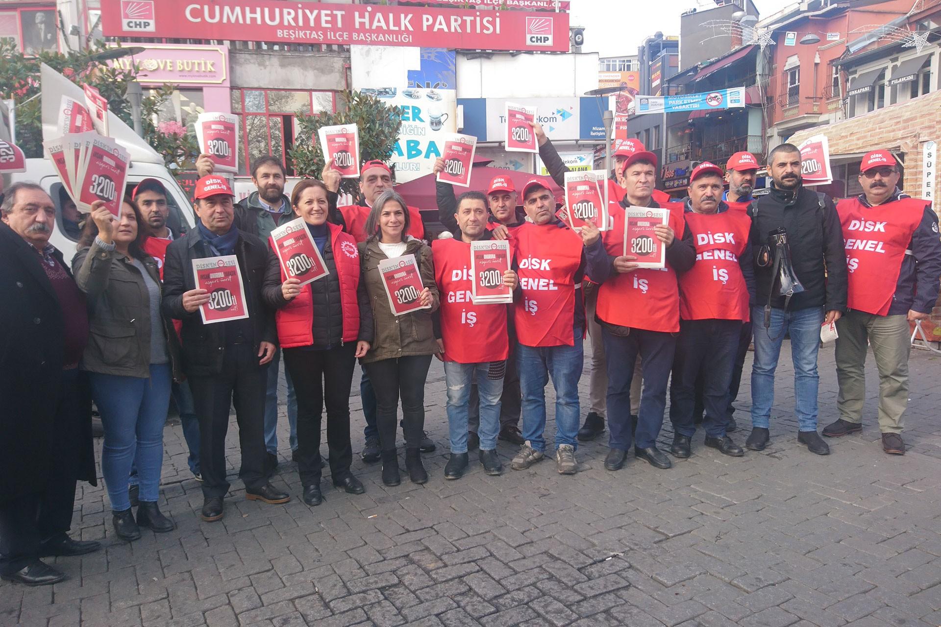 DİSK'in İstanbul'daki asgari ücret eylemi