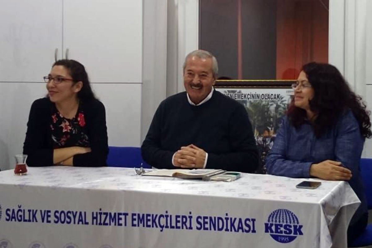 SES İzmir Şubesinin düzenlediği söyleşi.