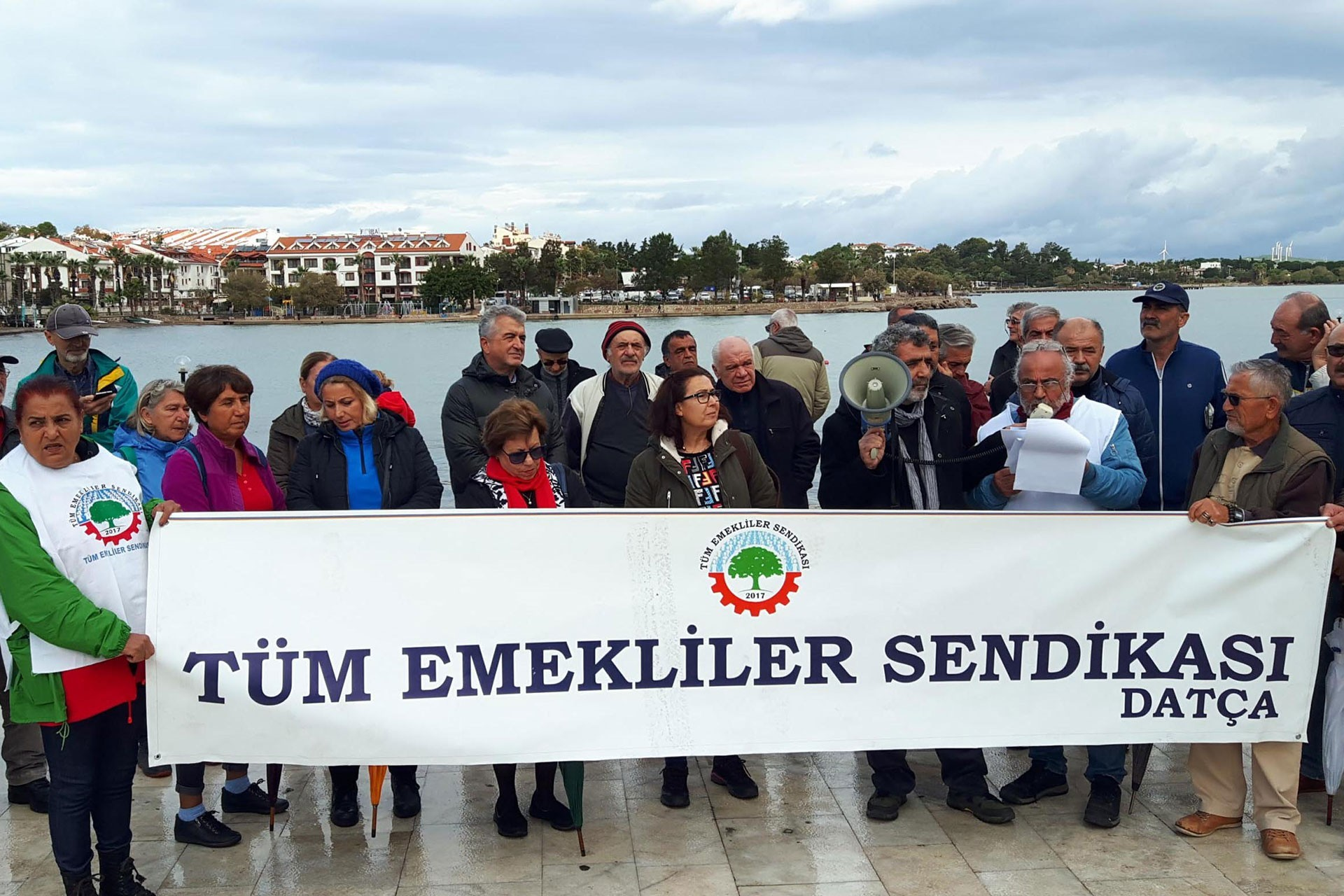 Tüm Emekli-Sen'in Datça'daki eylemi