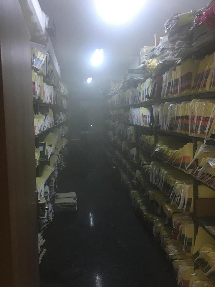Ankara İbni Sina Hastanesinin arşiv bölümü