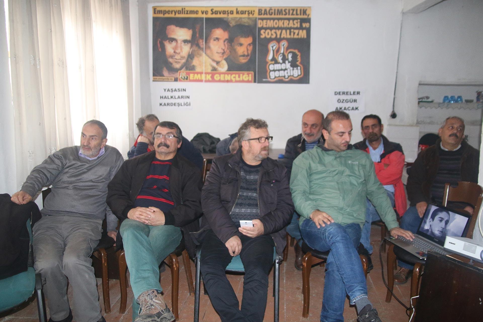Fındıklı'da Emek Partisi'nin düzenlediği Erdal Eren anması
