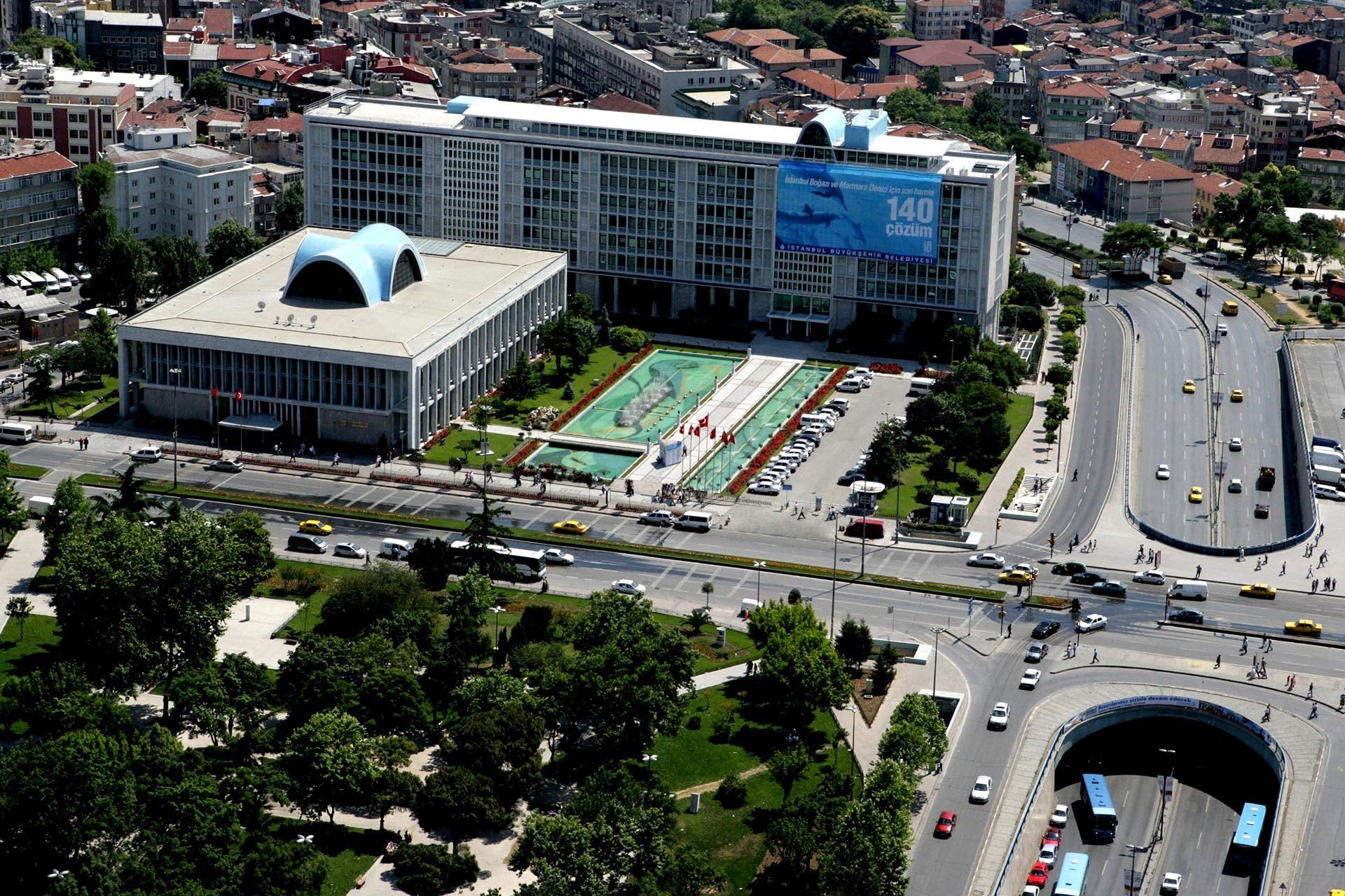 İstanbul Büyükşehir Belediyesi'nin havadan görüntüsü