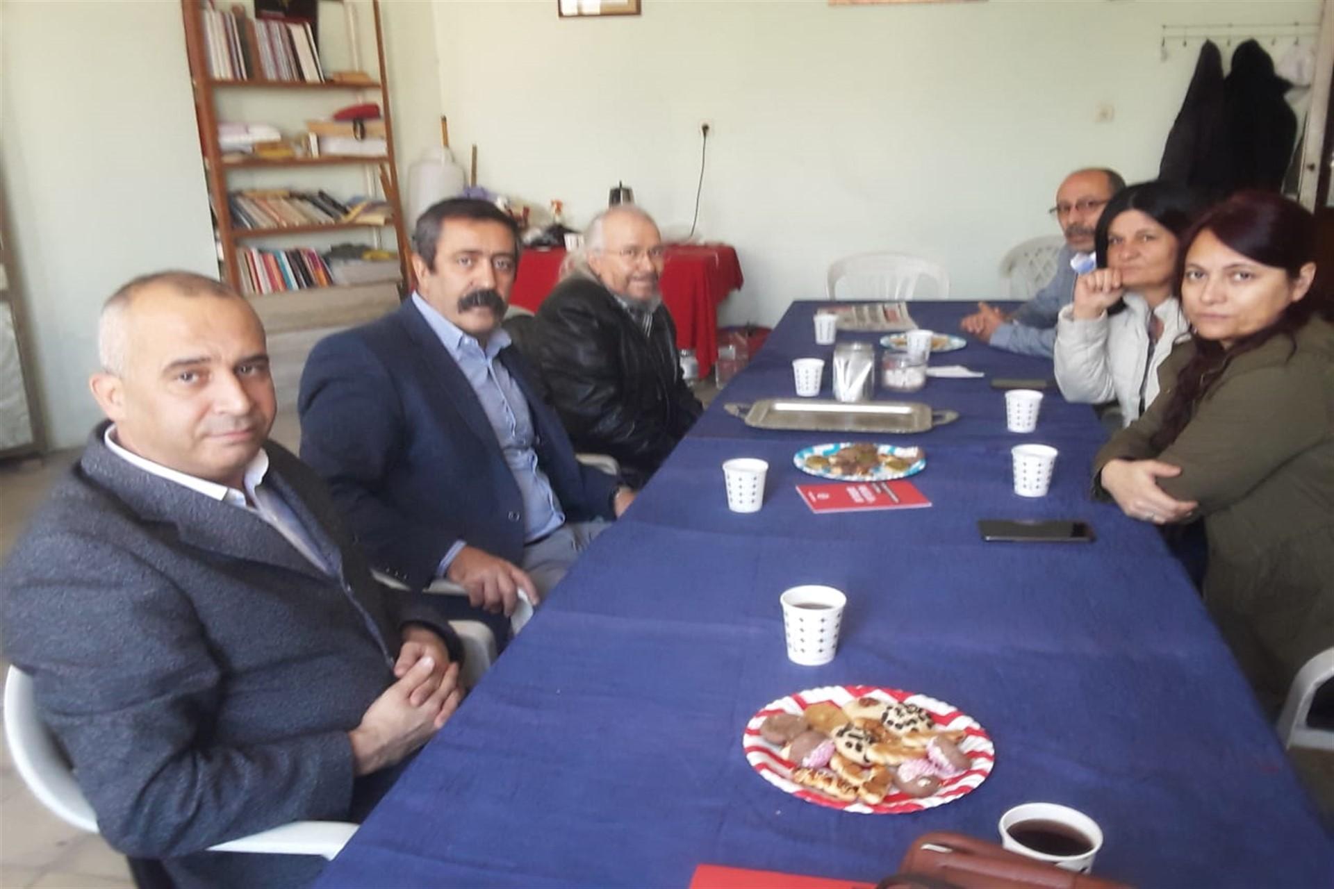 KESK üyelerinin Emek Partisi üyelerini ziyareti