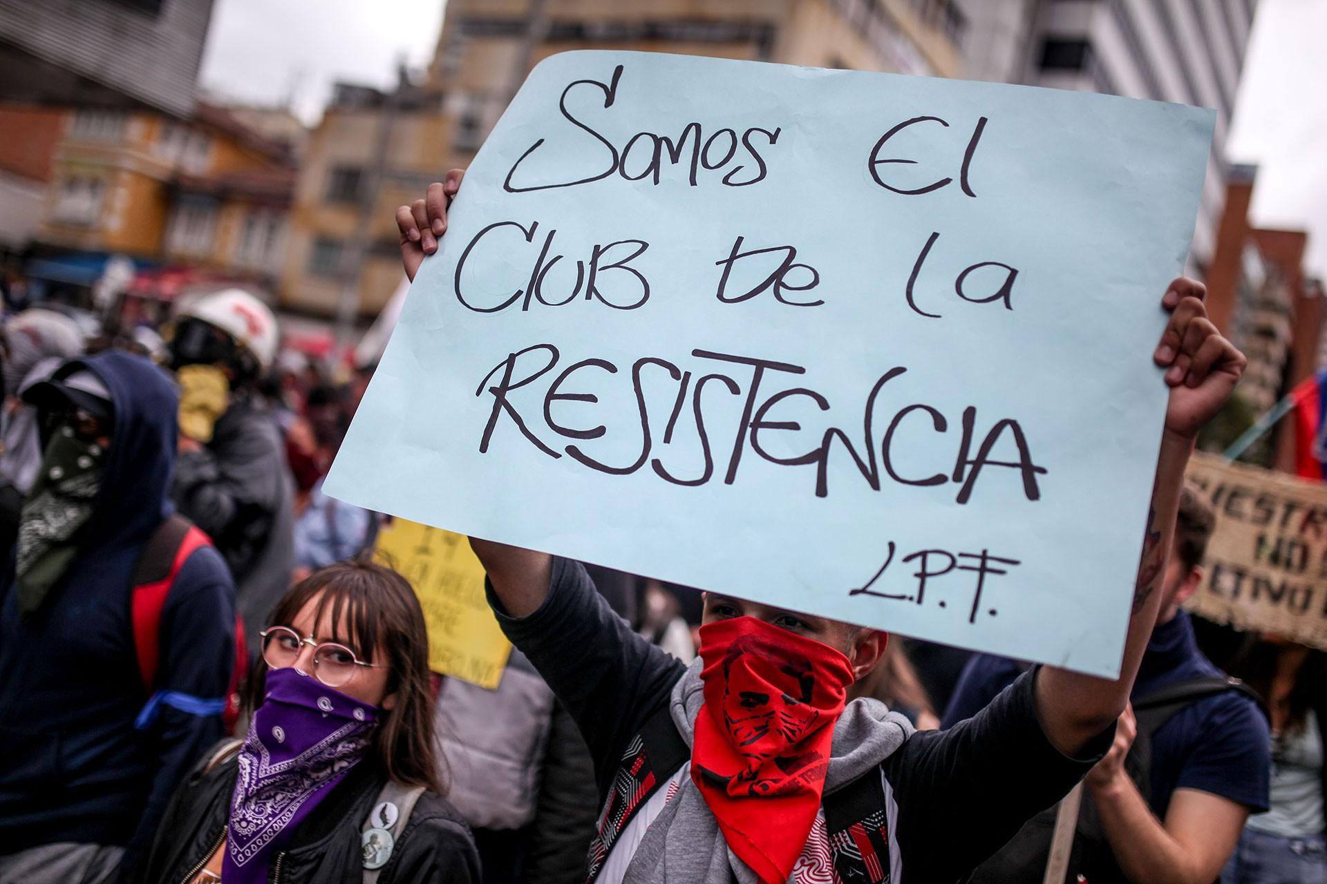 Kolombiya'da hükümet karşıtı protesto