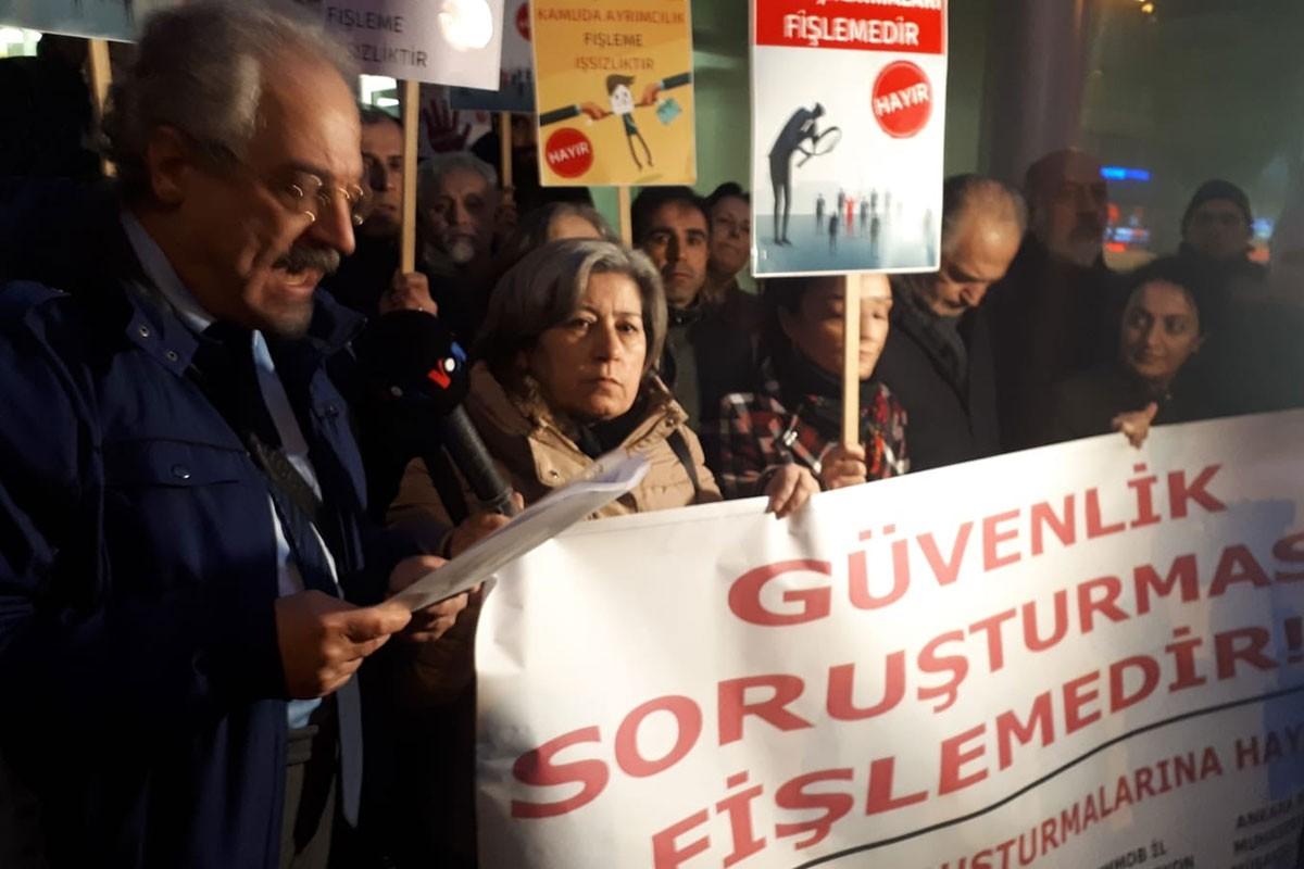 Ankara'da güvenlik soruşturmasına karşı basın açıklaması