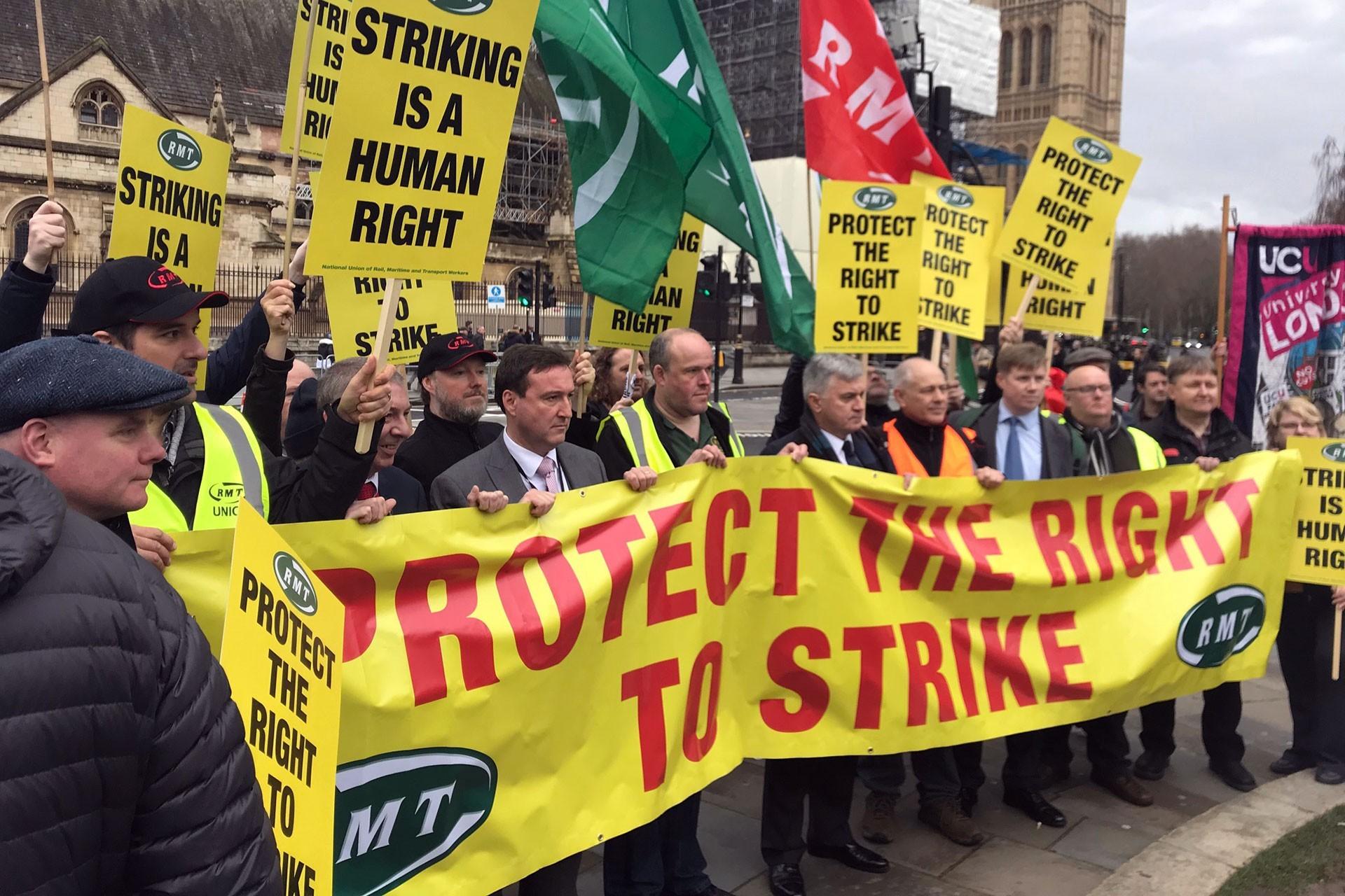 demiryolu işçilerinin eylemi