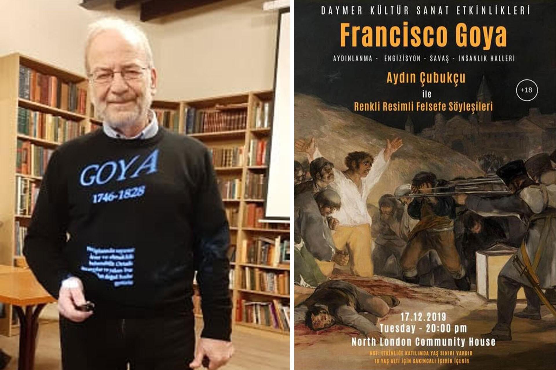 Aydın çubukçu ve Goya etkinliğinin afişi