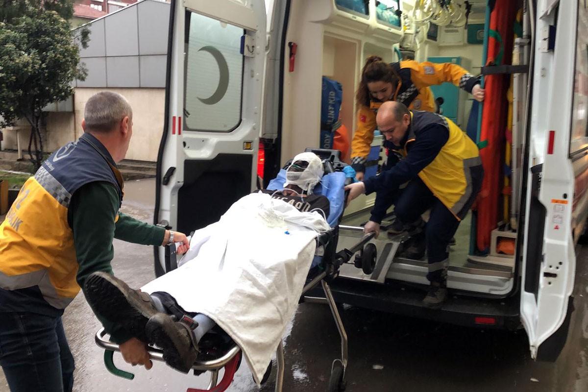 Kaçak ocakta yaşanan patlamada ağır yaralanan işçi hastaneye kaldırıldı.