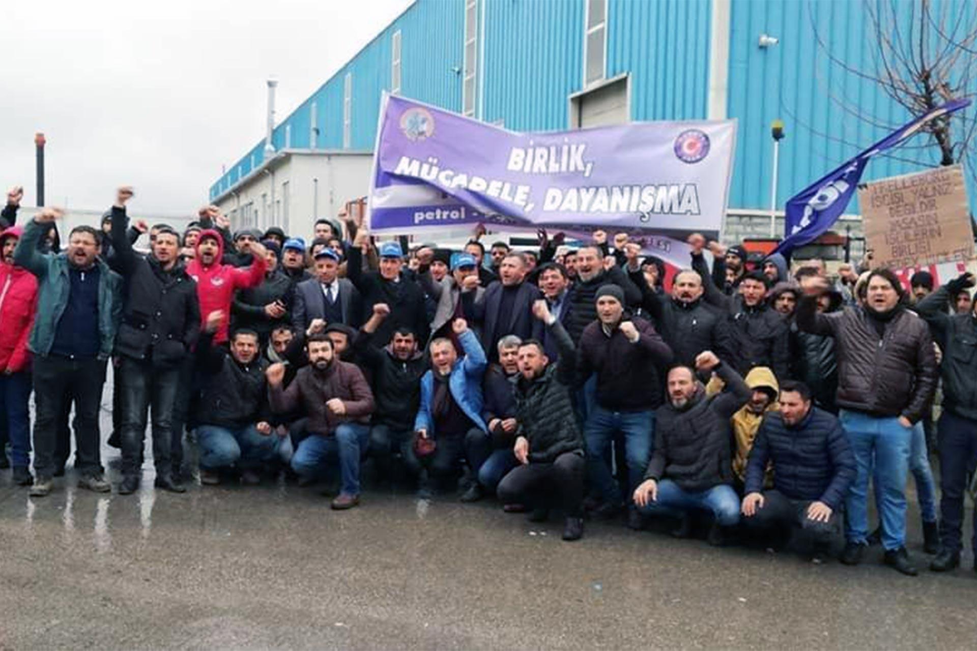 Trelleborg'da grevci işçiler