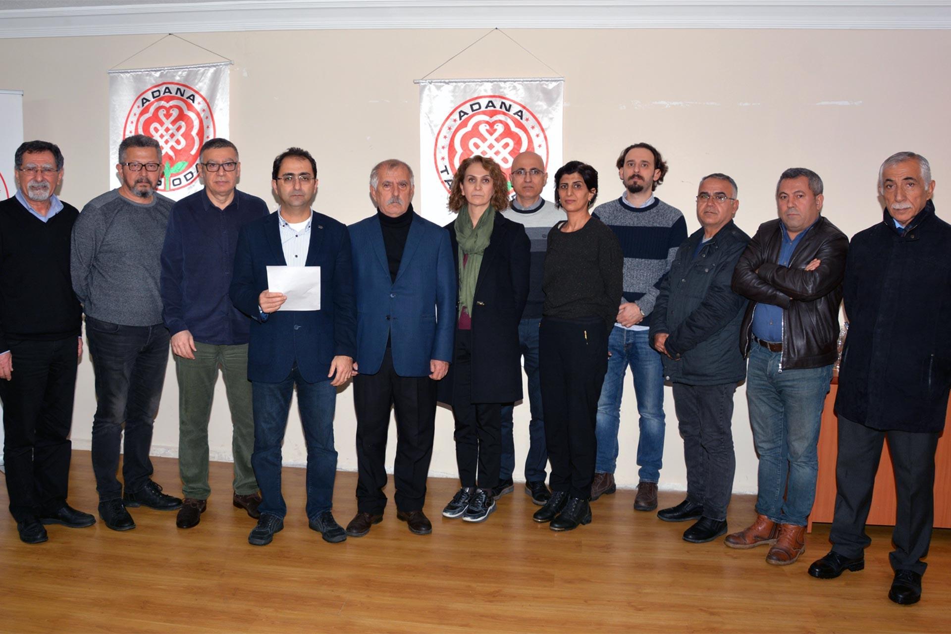 Hekime şiddete ilişkin açıklama yapan Adana Tabip Odası